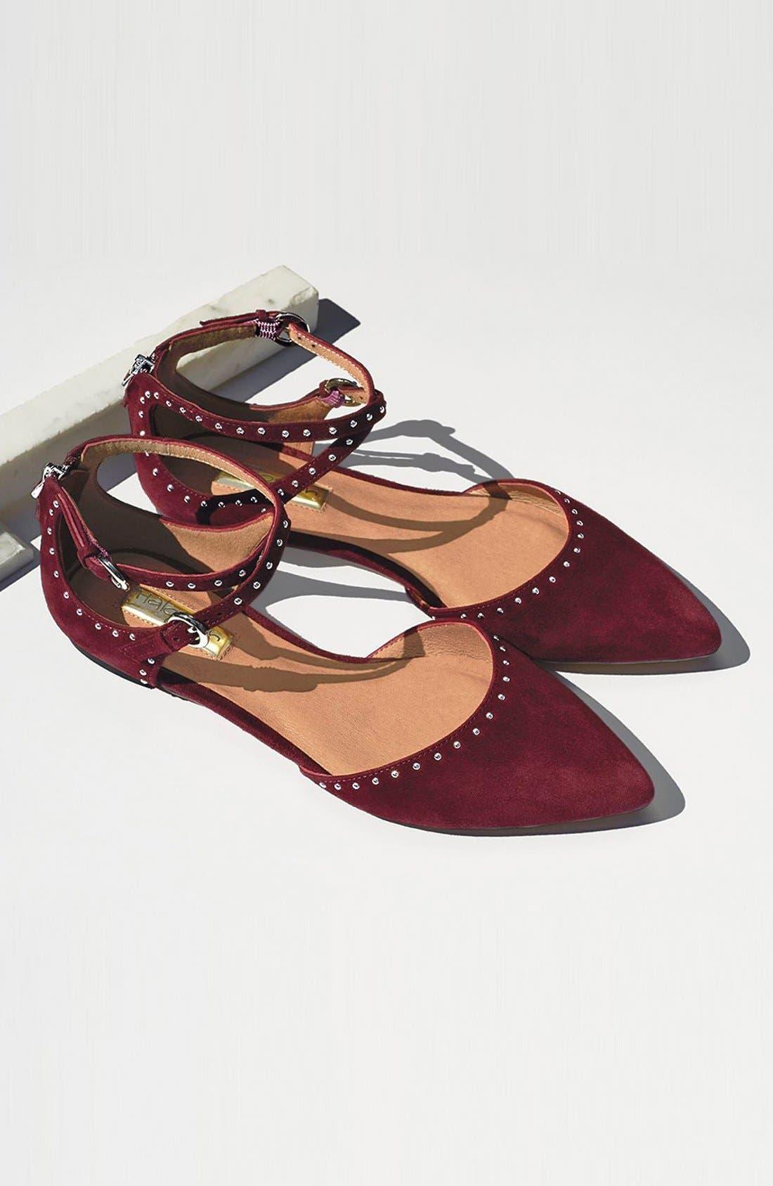 Alternate Image 7  - Halogen® 'Bristal' Ankle Strap Pointy Toe Flat (Women)