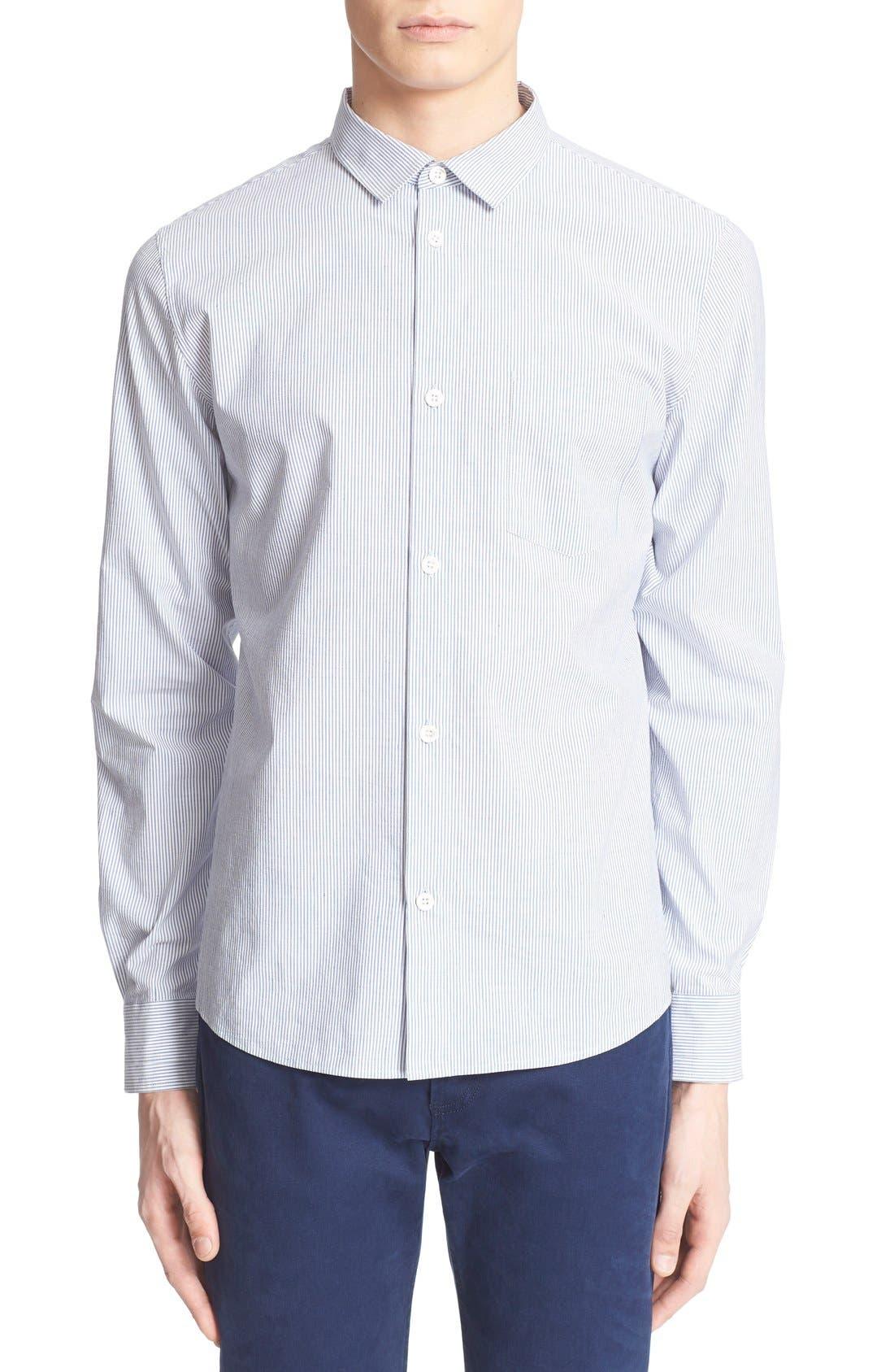 A.P.C. 'Etienne' Pinstripe Woven Shirt