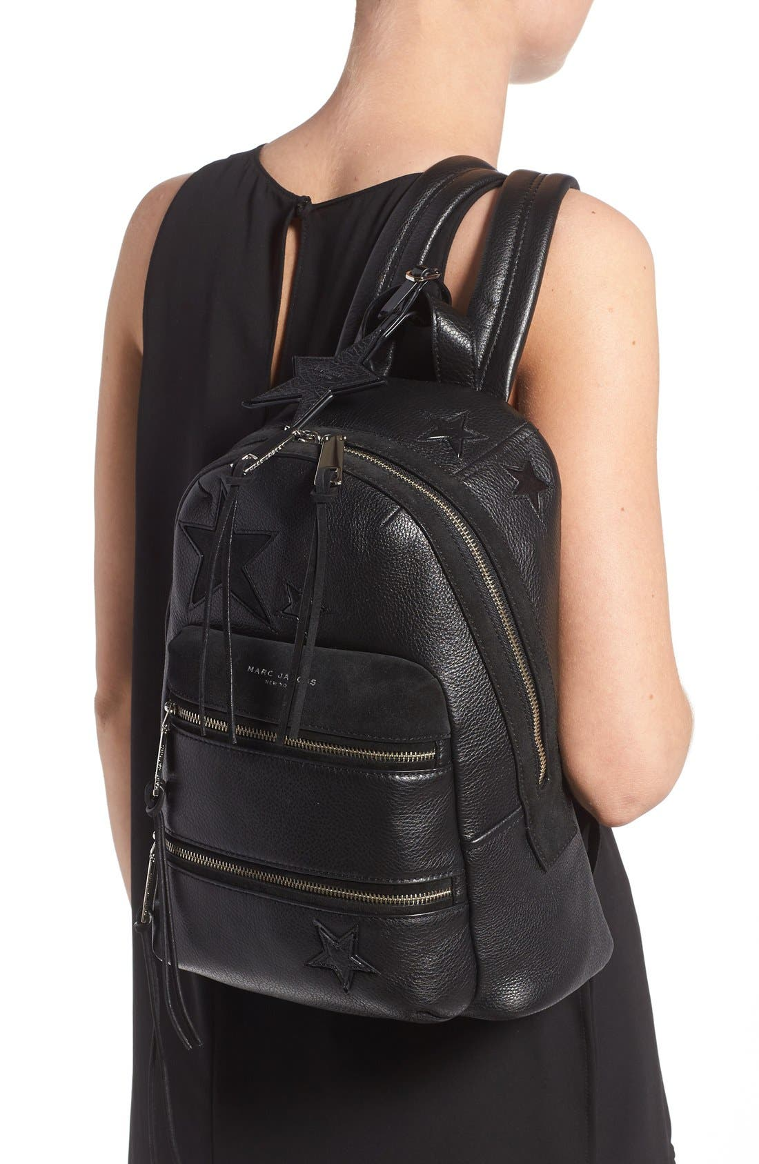 Alternate Image 2  - MARC JACOBS 'Star Patchwork' Leather Backpack