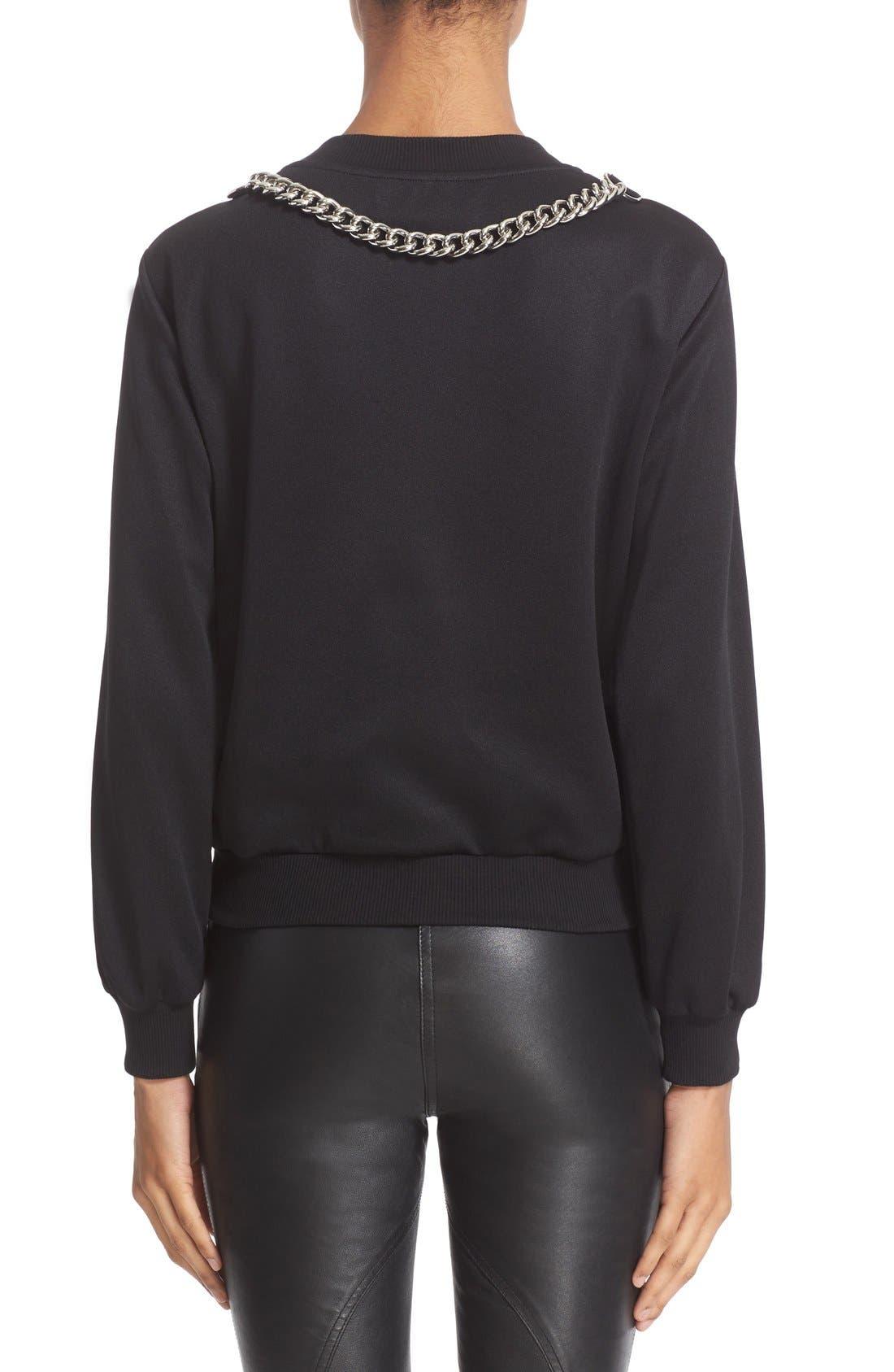 Alternate Image 2  - Moschino Chain & Faux Pearl Embellished Sweatshirt
