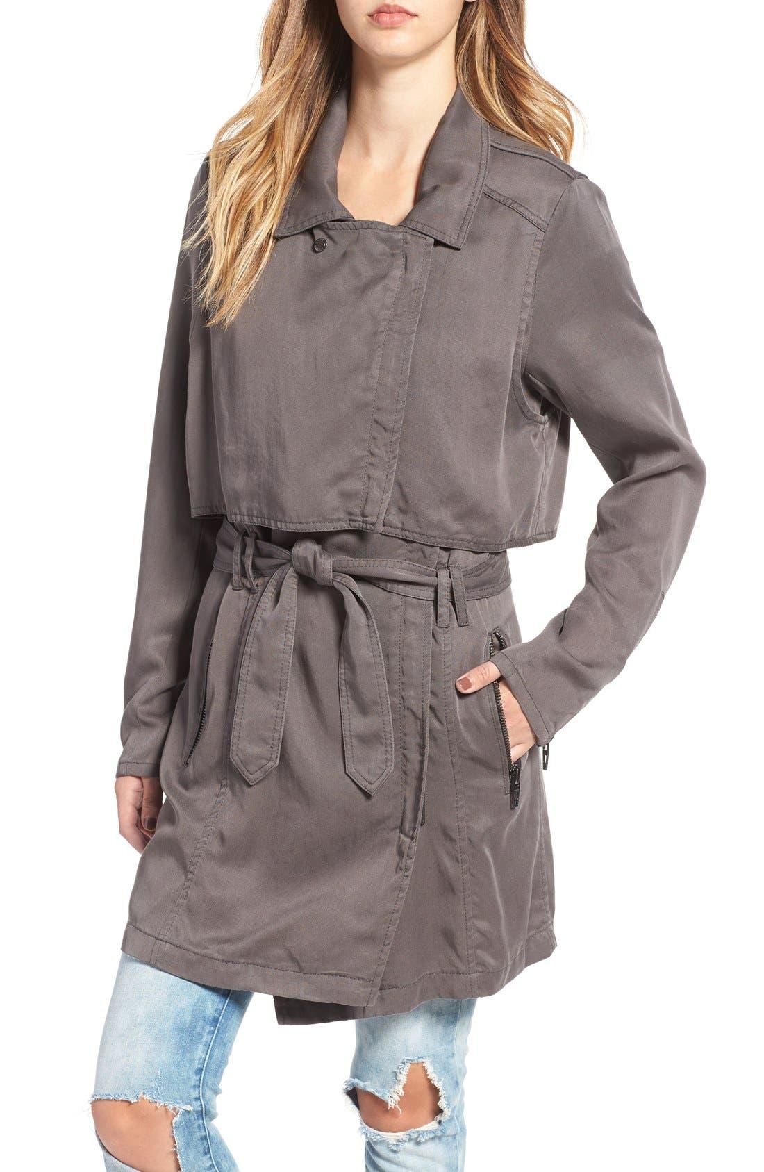 Alternate Image 4  - BLANKNYC Drapey Trench Coat