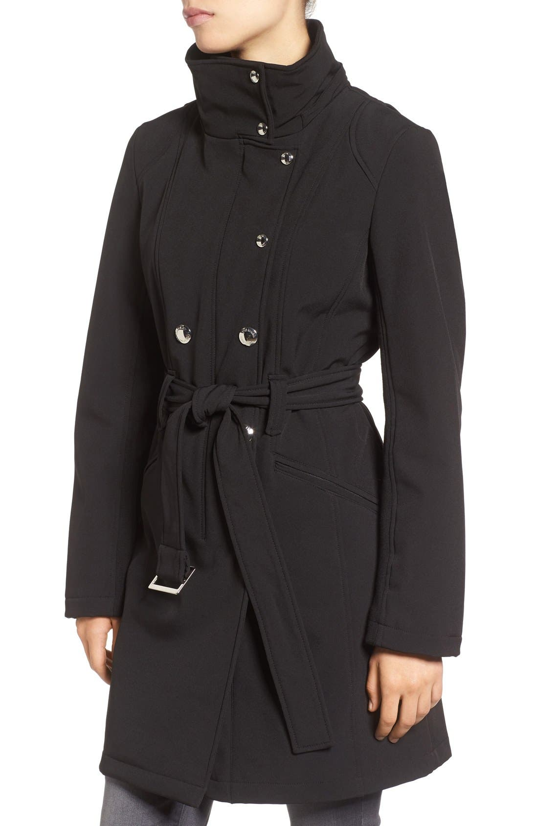 Alternate Image 4  - Calvin Klein Double Breasted Soft Shell Trench Coat