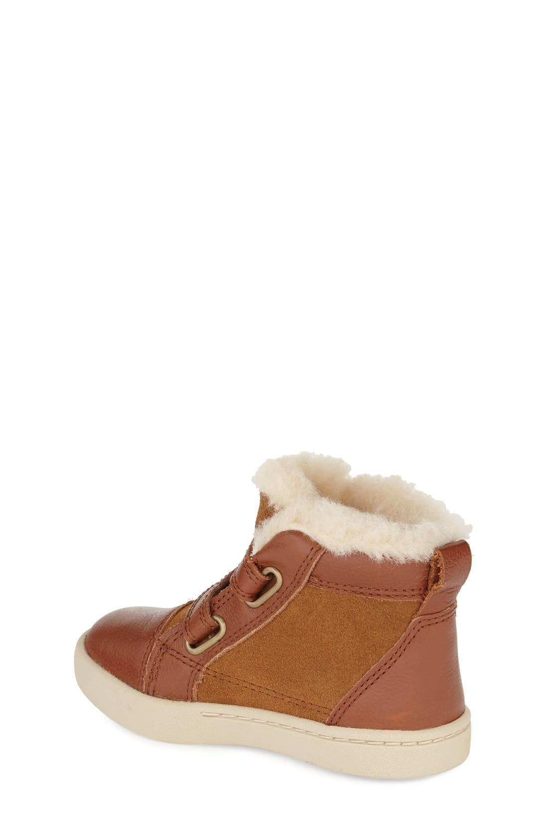 Alternate Image 2  - UGG® Rennon High Top Sneaker (Walker & Toddler)