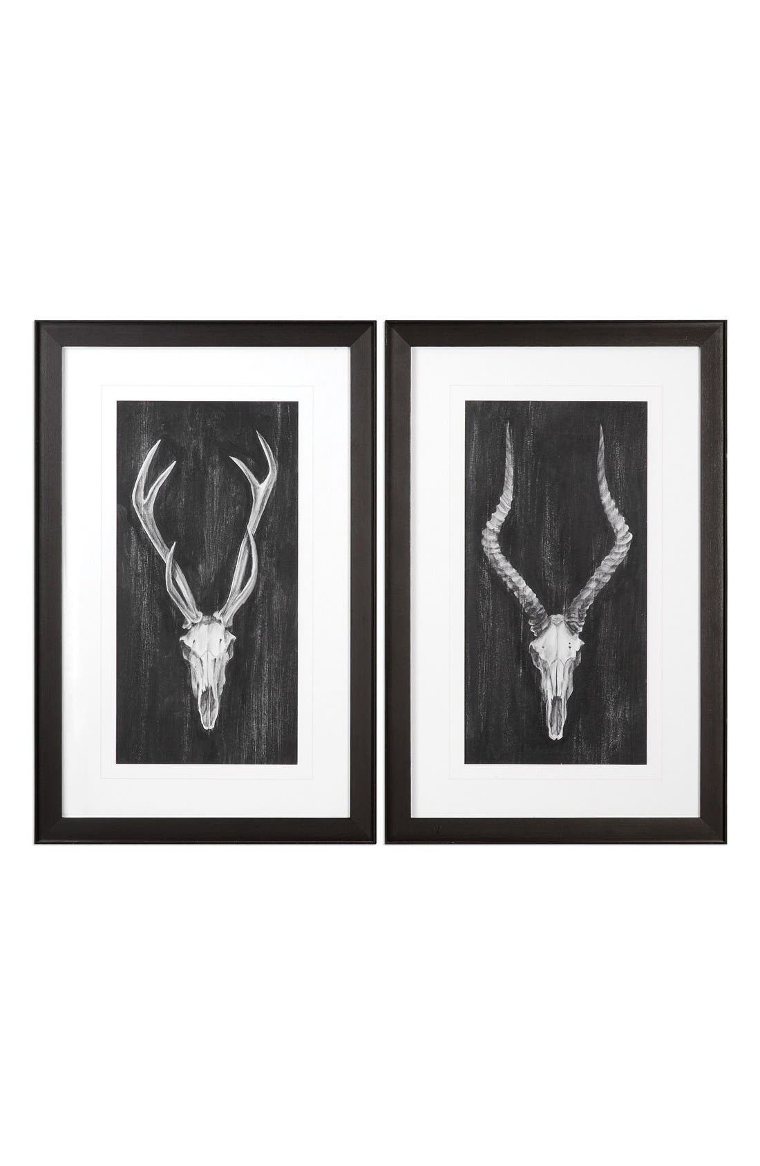 Uttermost 'Rustic Mounts' Wall Art (Set of 2)