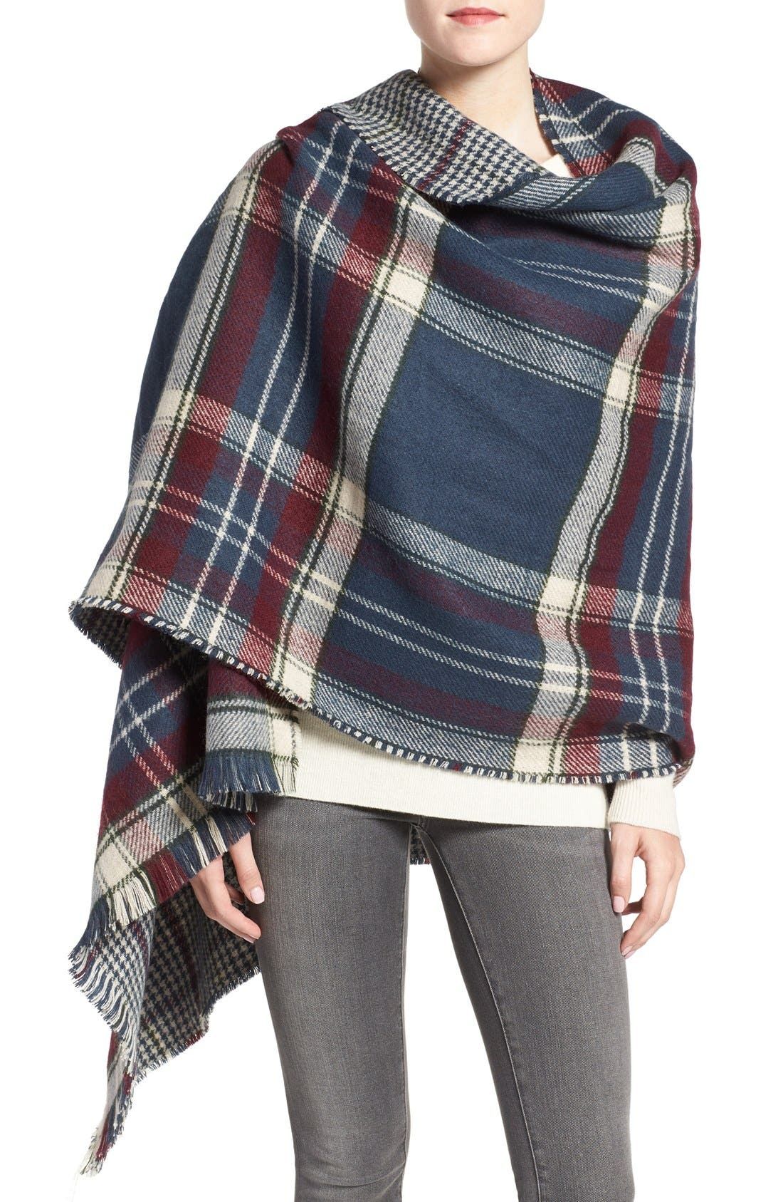 Alternate Image 1 Selected - Barbour Reversible Plaid & Check Wrap