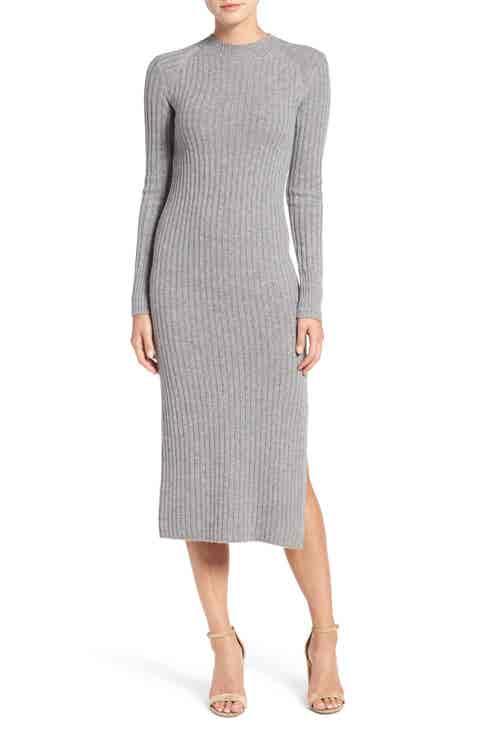 AG Reign Merino Wool   Cashmere Sweater Midi Dress