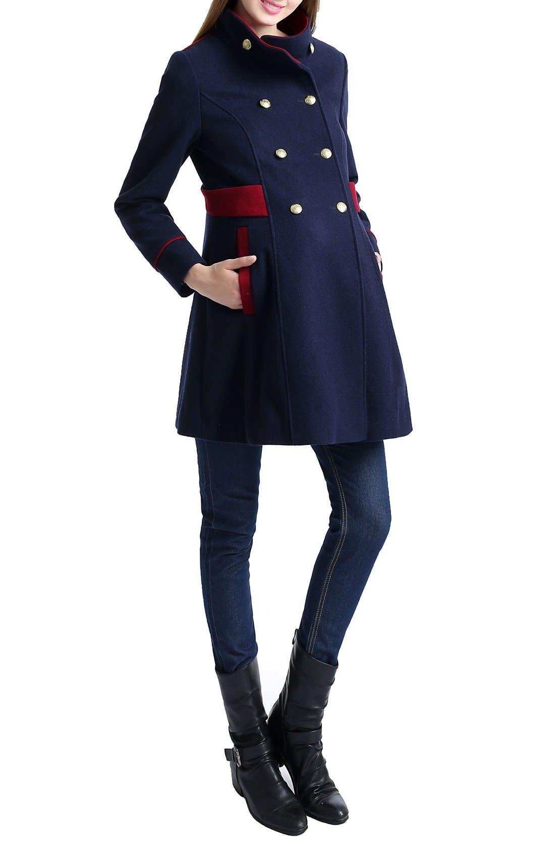 Alternate Image 4  - Nom 'Pan' Military Maternity Pea Coat