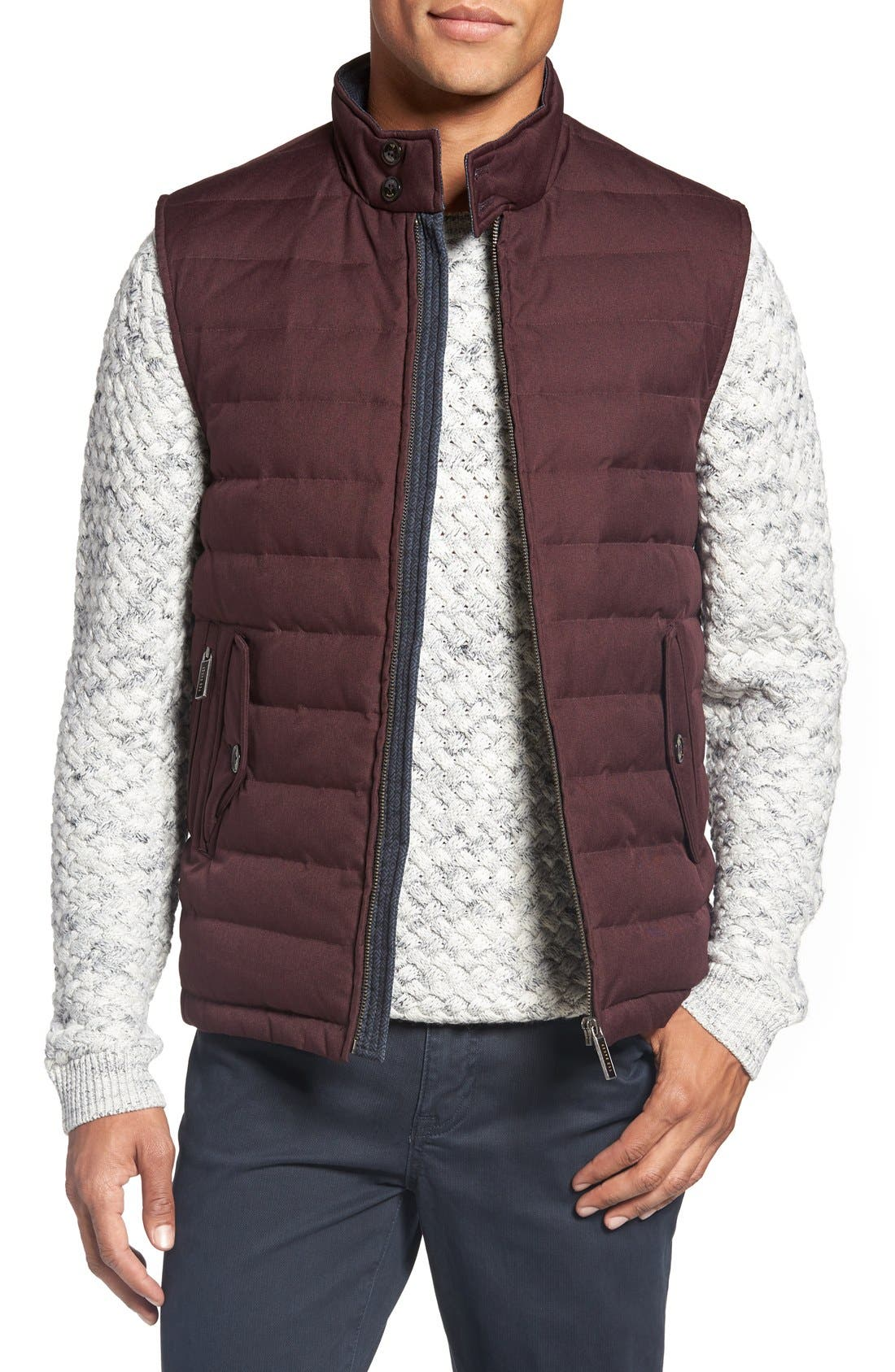 Alternate Image 1 Selected - Ted Baker London 'Dylan' Trim Fit Quilted Down Vest
