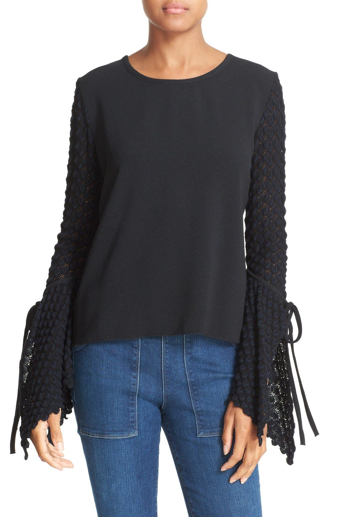 SEE BY CHLOÉ Knit Bell Sleeve Top