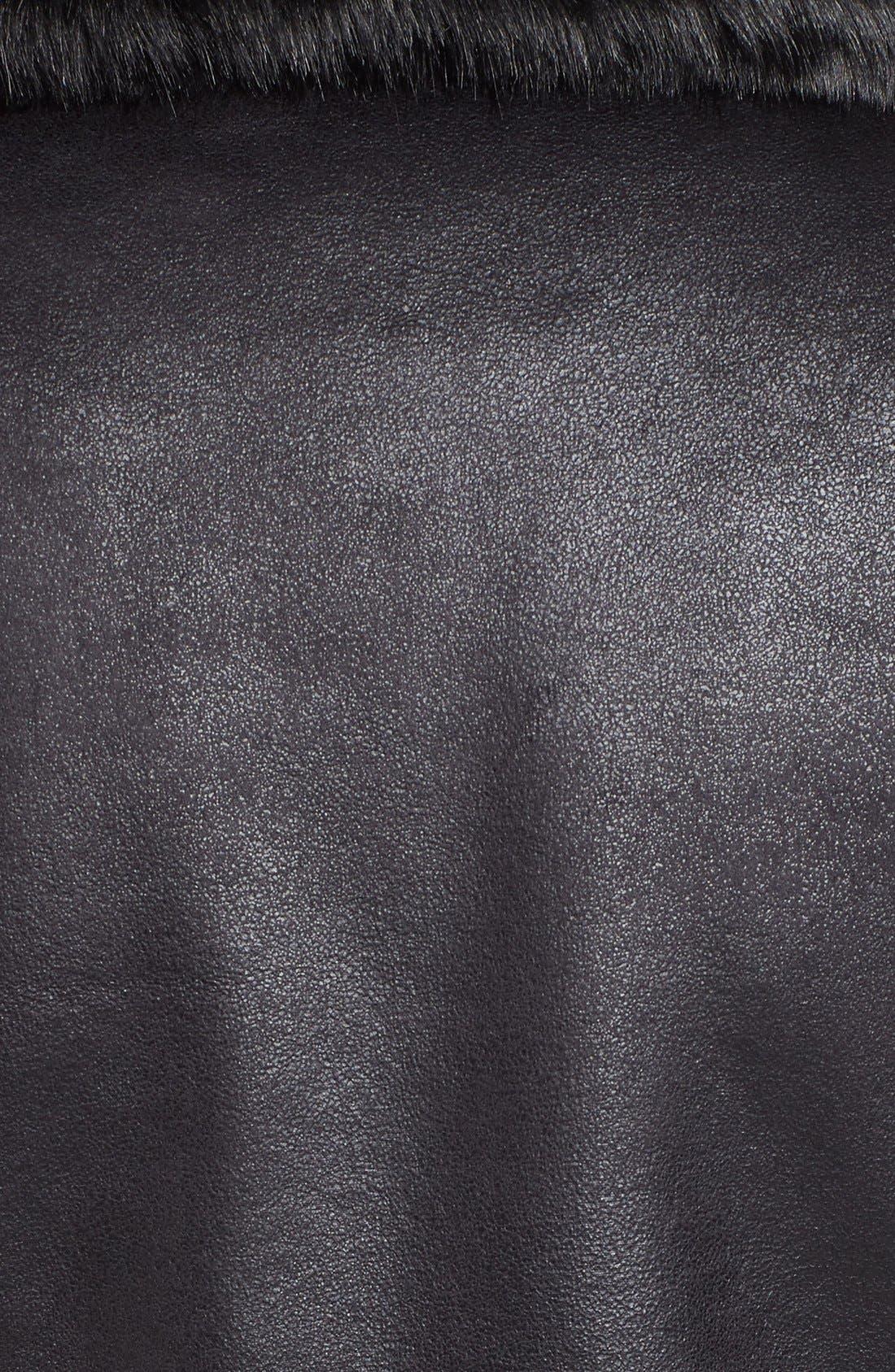 Alternate Image 5  - Vince Camuto Mixed Media Faux Shearling Moto Jacket