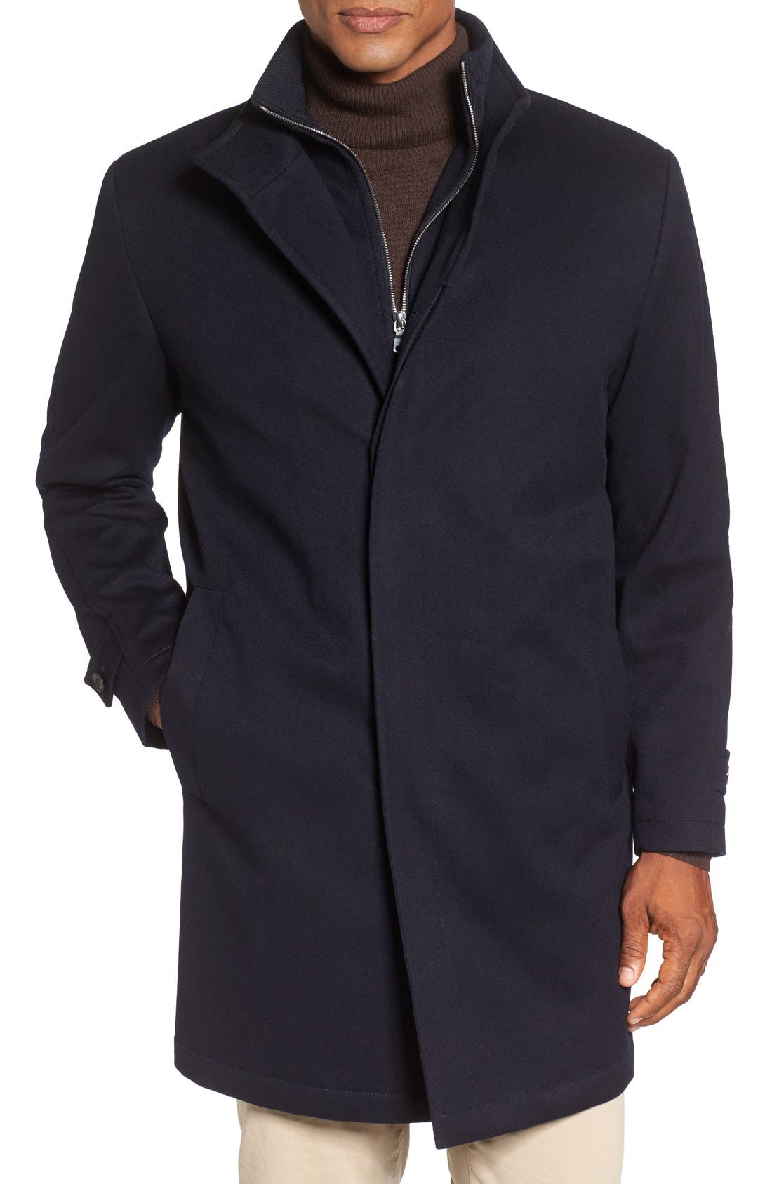 Peter Millar 'Old Sebastian' Wool Overcoat