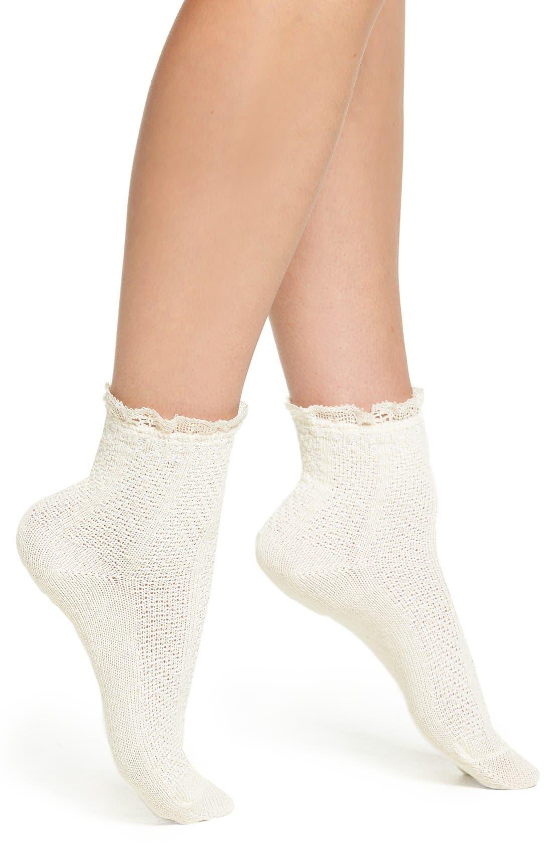Main Image - Peony & Moss Ankle Socks
