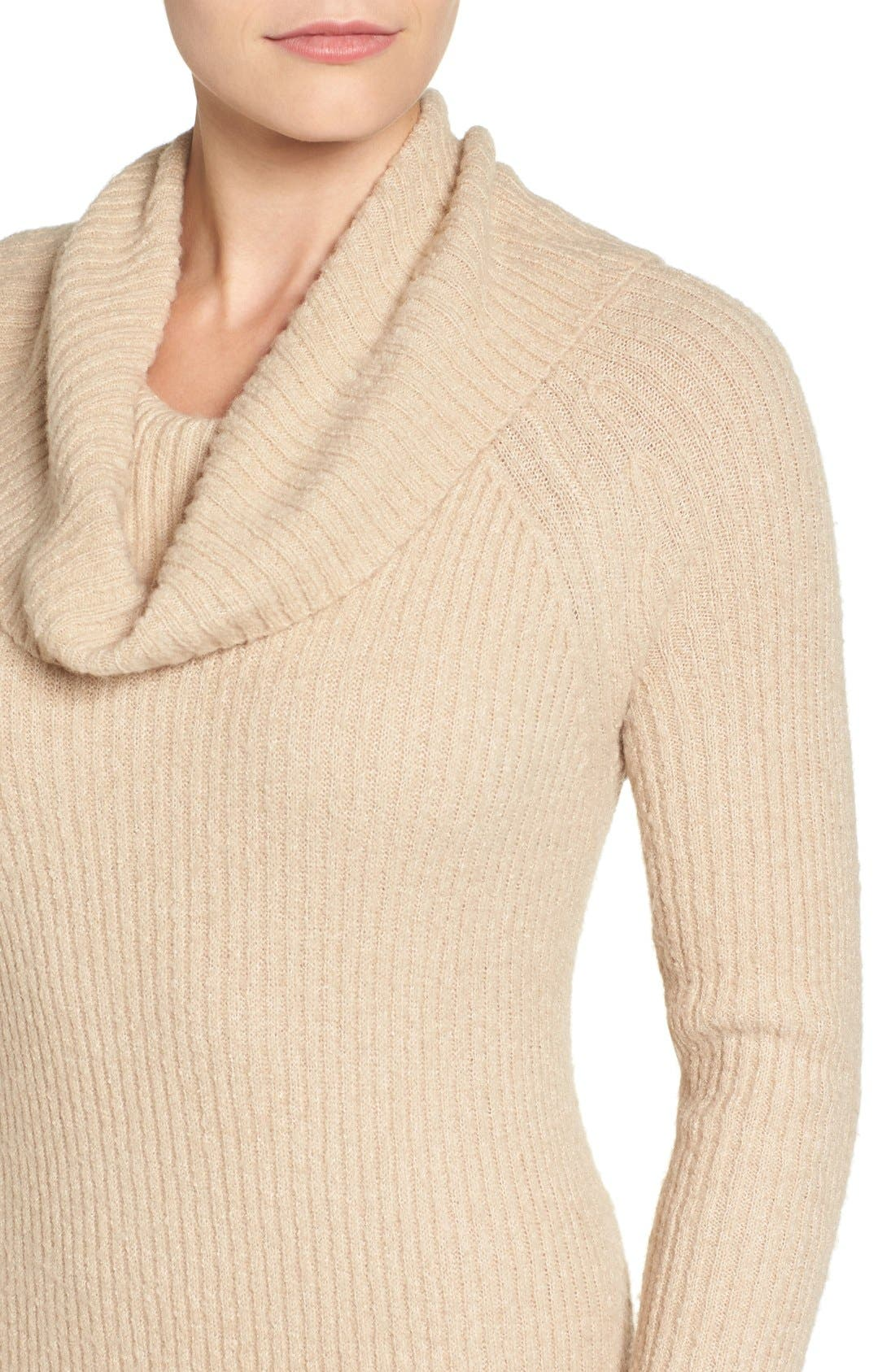 Alternate Image 5  - Halogen® Cowl Neck Sweater Dress (Regular & Petite)