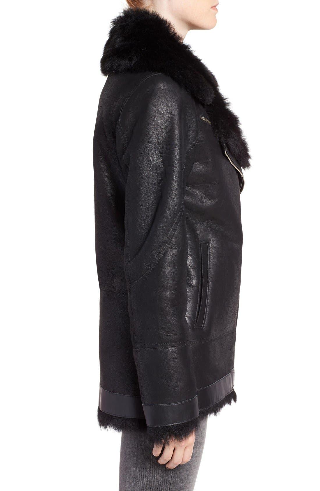 Alternate Image 3  - HiSO Tattler Genuine Toscana Shearling Oversize Bomber Jacket