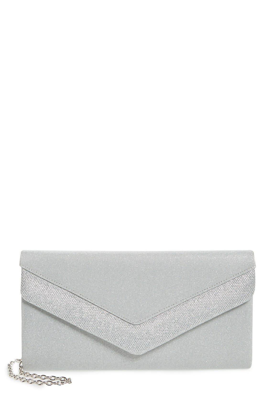 Menbur Metallic Envelope Clutch