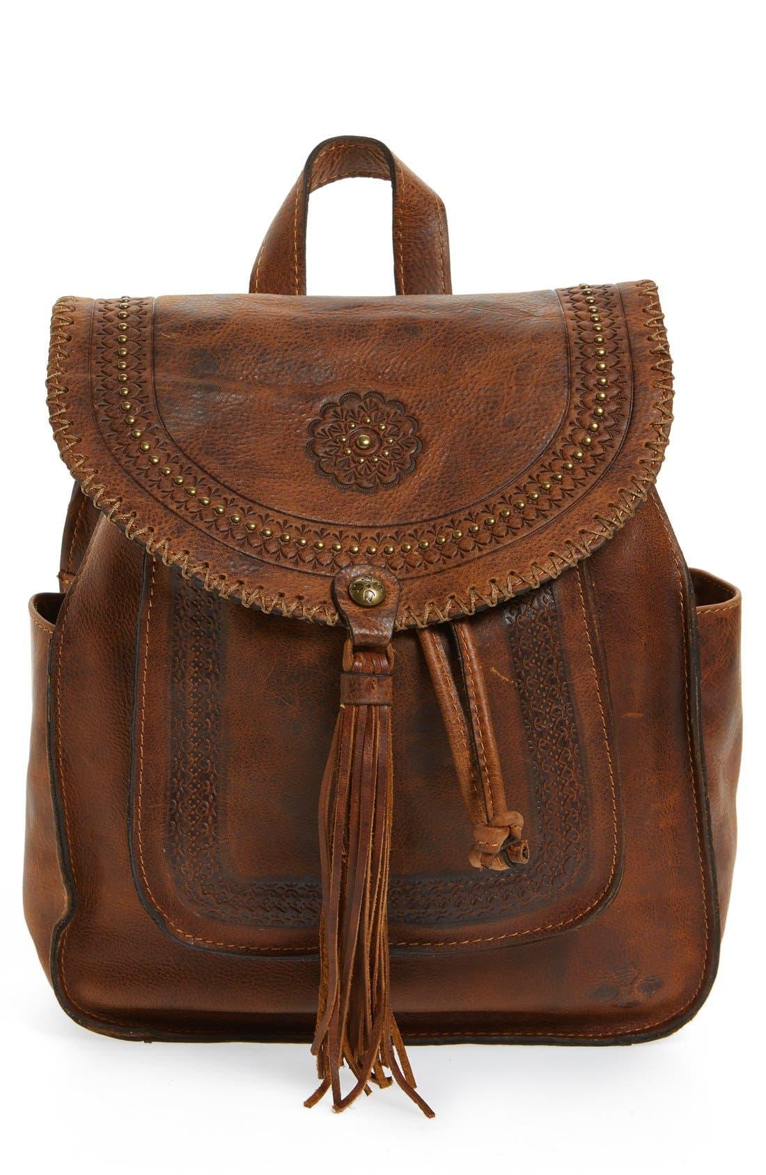 Alternate Image 1 Selected - Patricia Nash 'Jovanna' Tassel Studded Leather Backpack