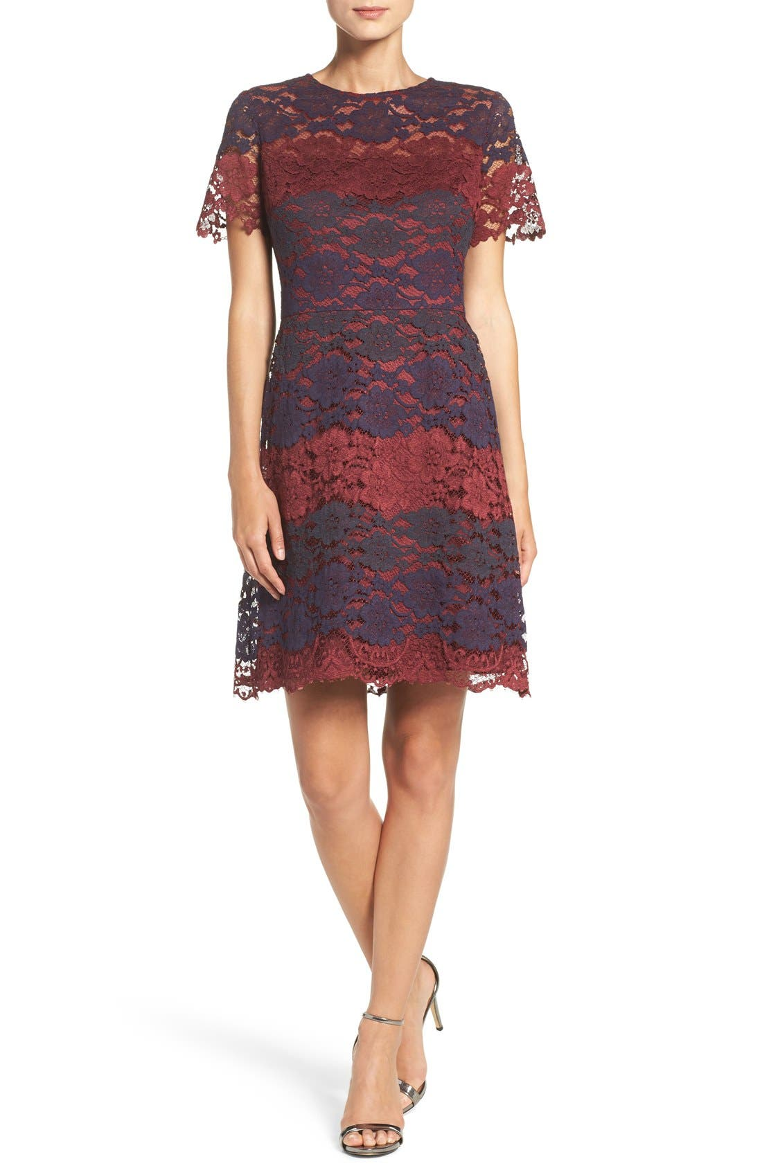 Alternate Image 4  - Maggy London Lace Fit & Flare Dress