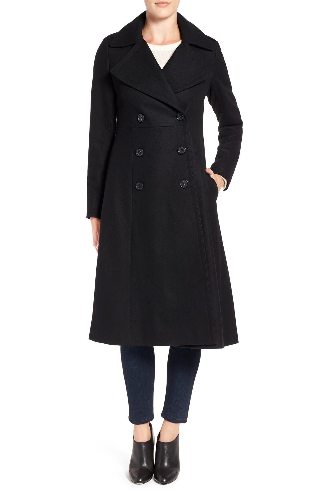 Alternate Image 1 Selected - French Connection Long Wool Blend Coat