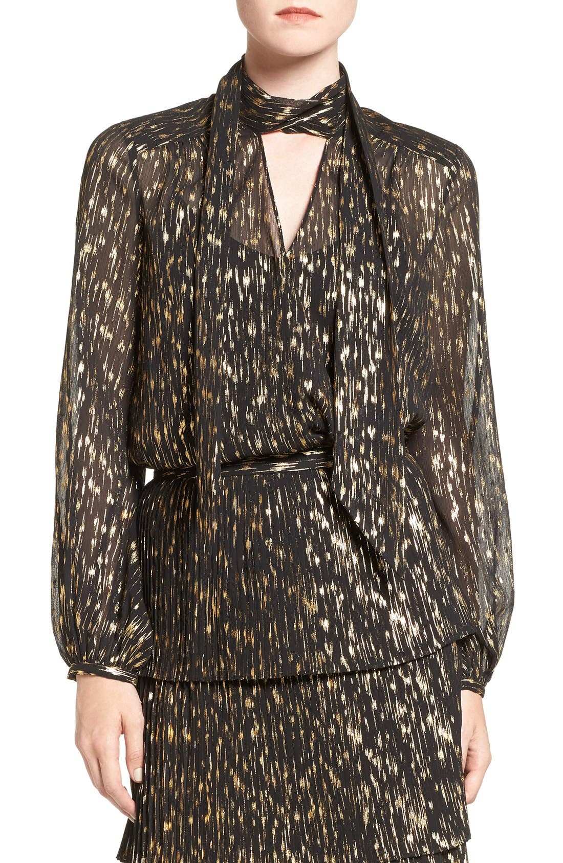 Main Image - Olivia Palermo + Chelsea28 Tie Neck Blouse