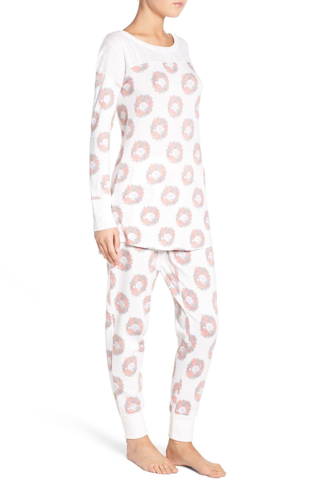 Alternate Image 3  - Honeydew Intimates Fleece Pajamas