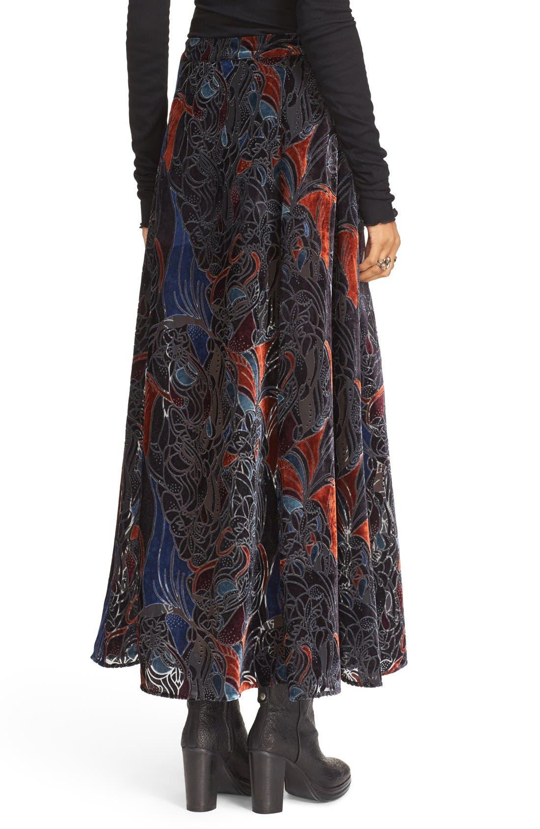 Alternate Image 2  - Free People Velvet Burnout Maxi Skirt