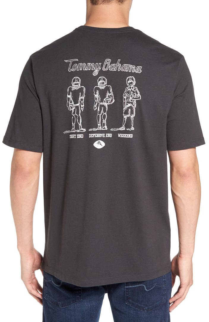 Tommy bahama 39 tight end defensive end 39 graphic t shirt for Do tommy bahama shirts run big