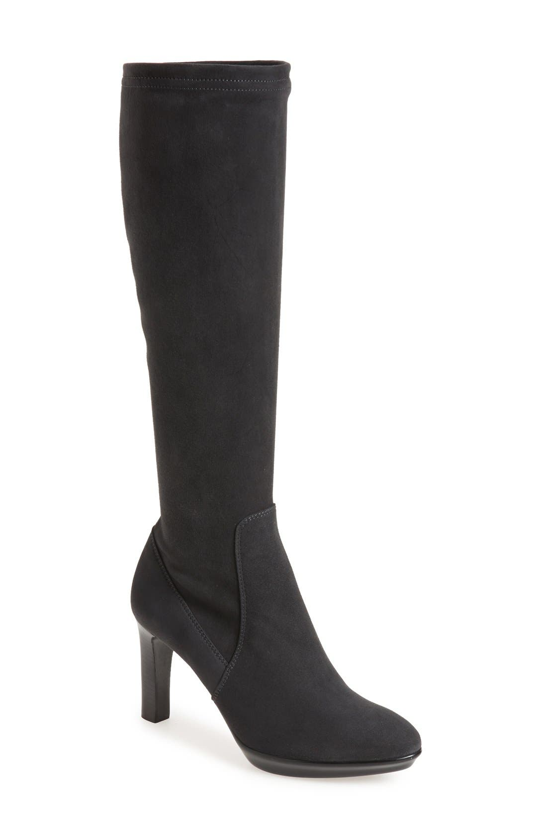 AQUATALIA 'Rumbah' Weatherproof Knee High Stretch Boot