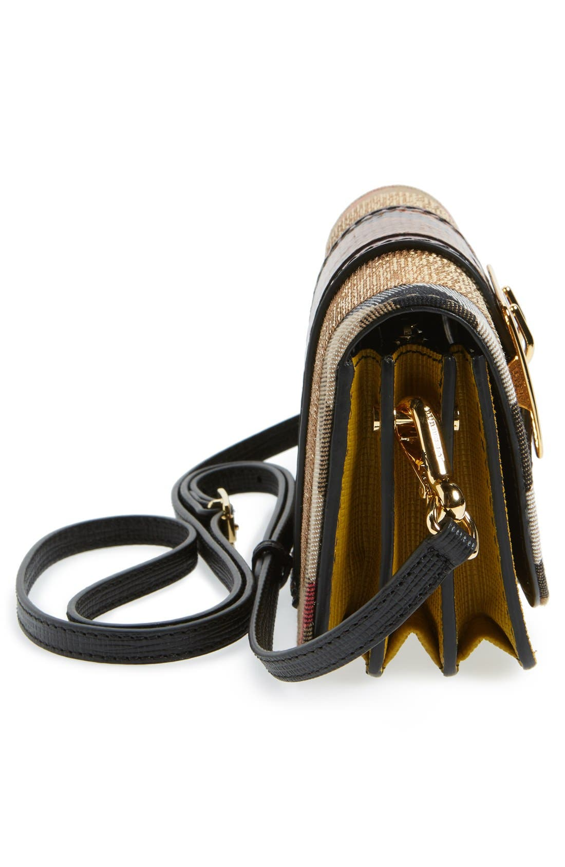 Alternate Image 5  - Burberry 'Belt Bag' Mixed Finish Convertible Clutch with Genuine Snakeskin Trim