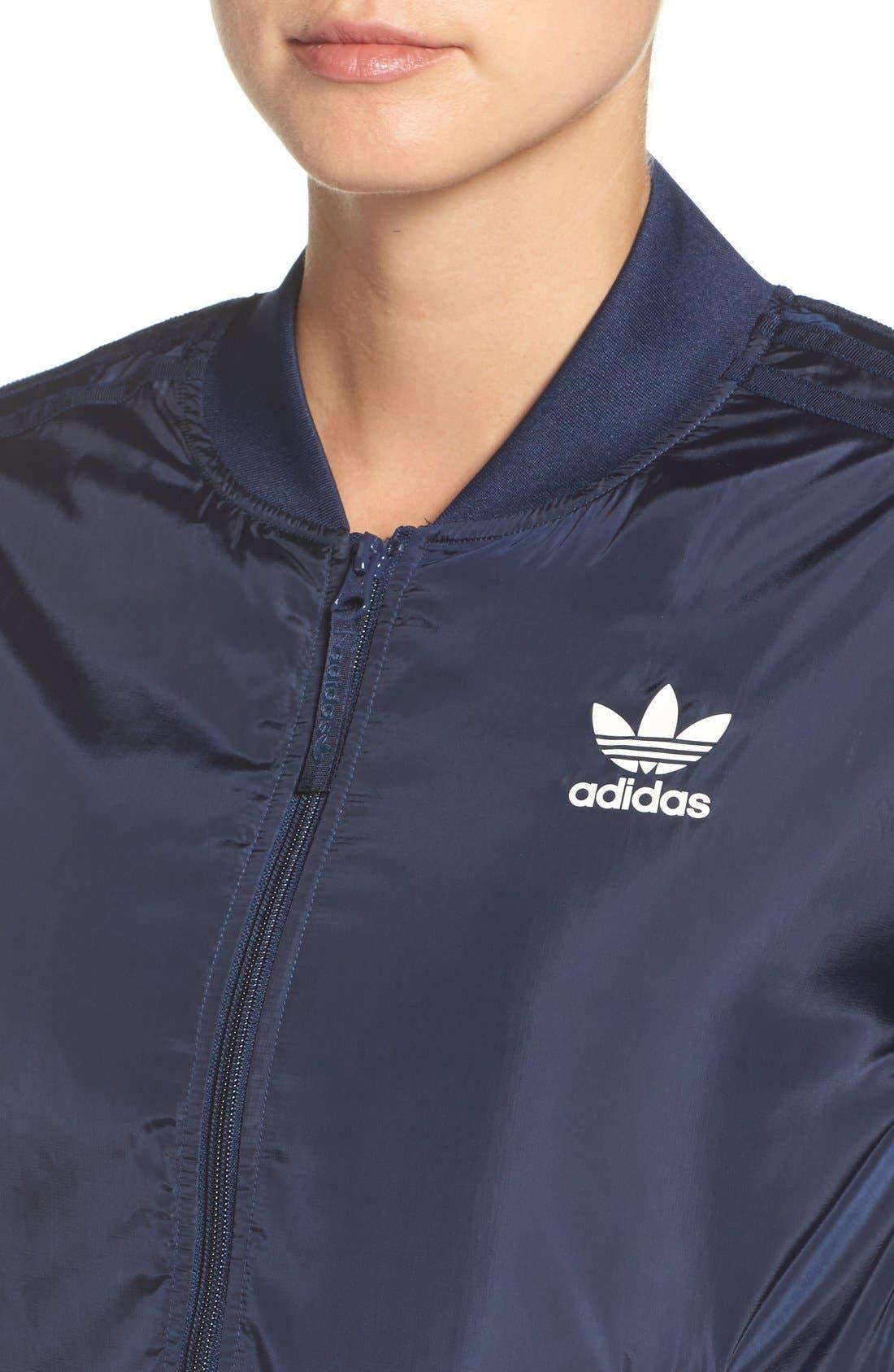 Alternate Image 4  - adidas Originals 'BG' 3-Stripes Bomber Jacket