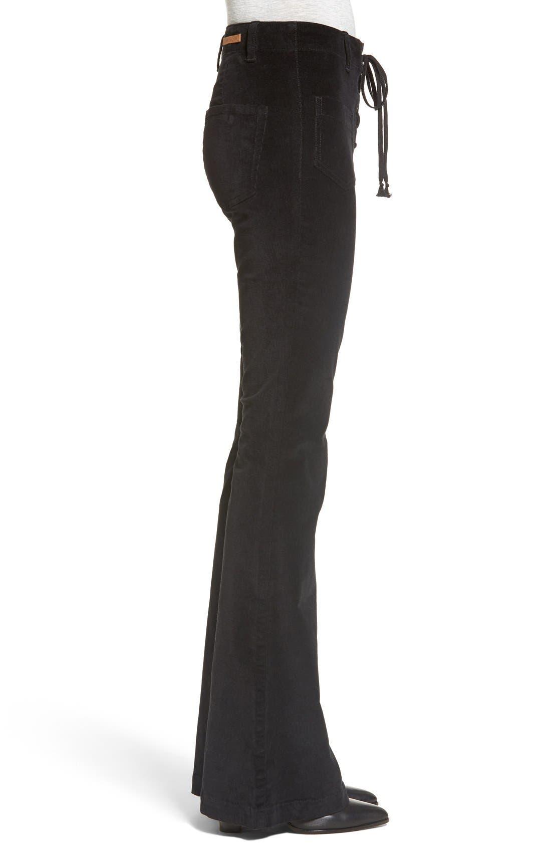 Alternate Image 3  - Sun & Shadow Lace-Up Flare Corduroy Pants