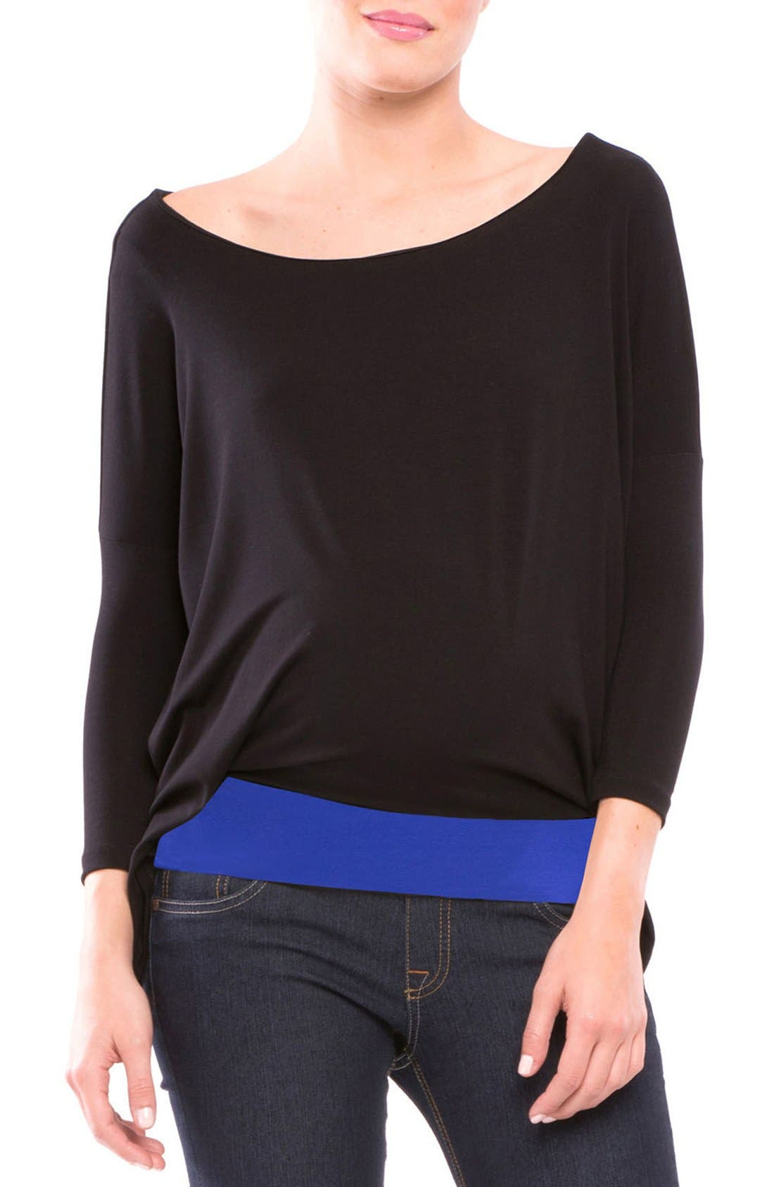 OLIAN 'Margarett' Drape Maternity Top