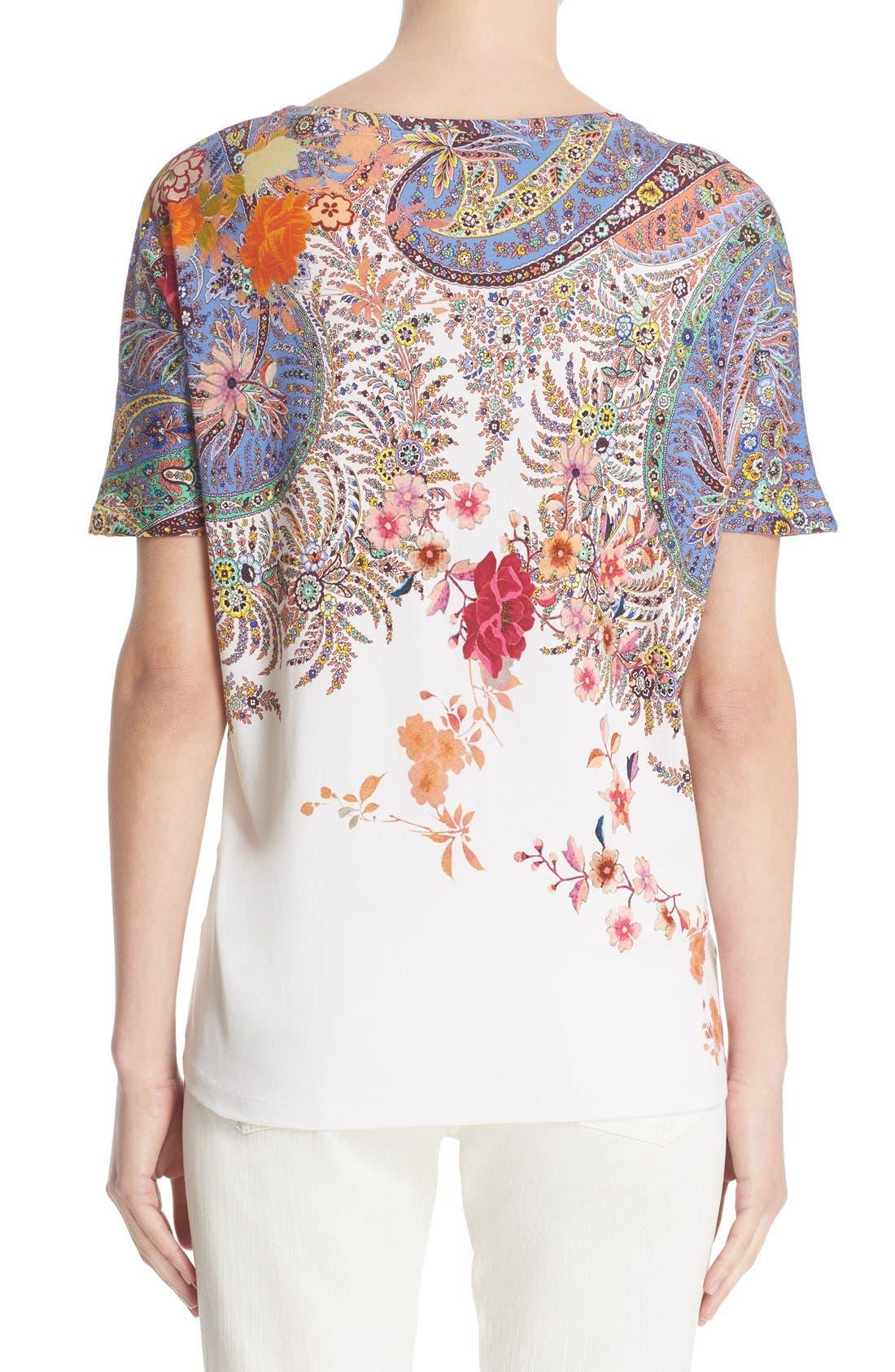 Alternate Image 2  - Etro Floral & Paisley Print Cotton Tee
