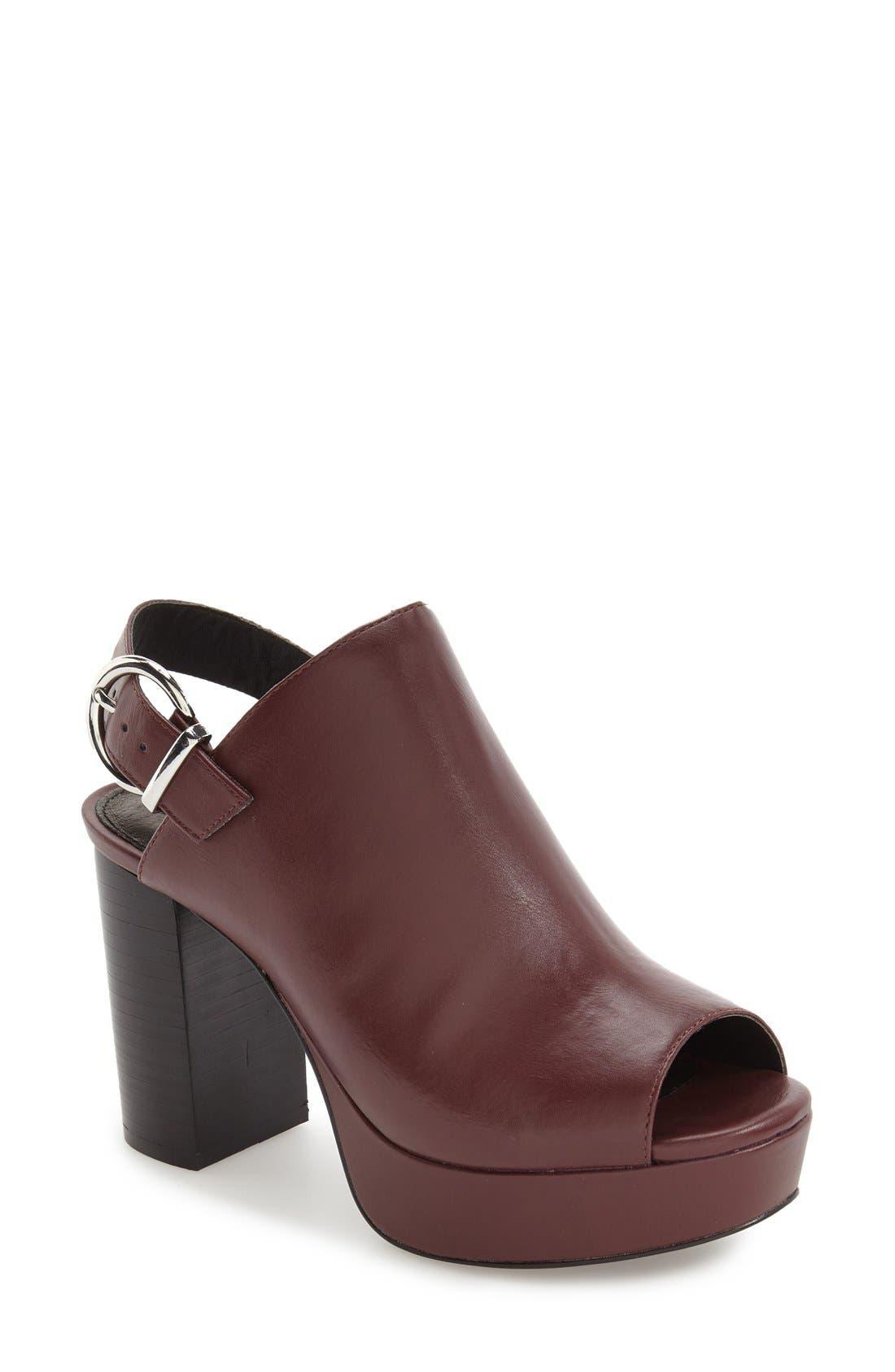 Alternate Image 1 Selected - Topshop 'Liquorice' Platform Sandal (Women)