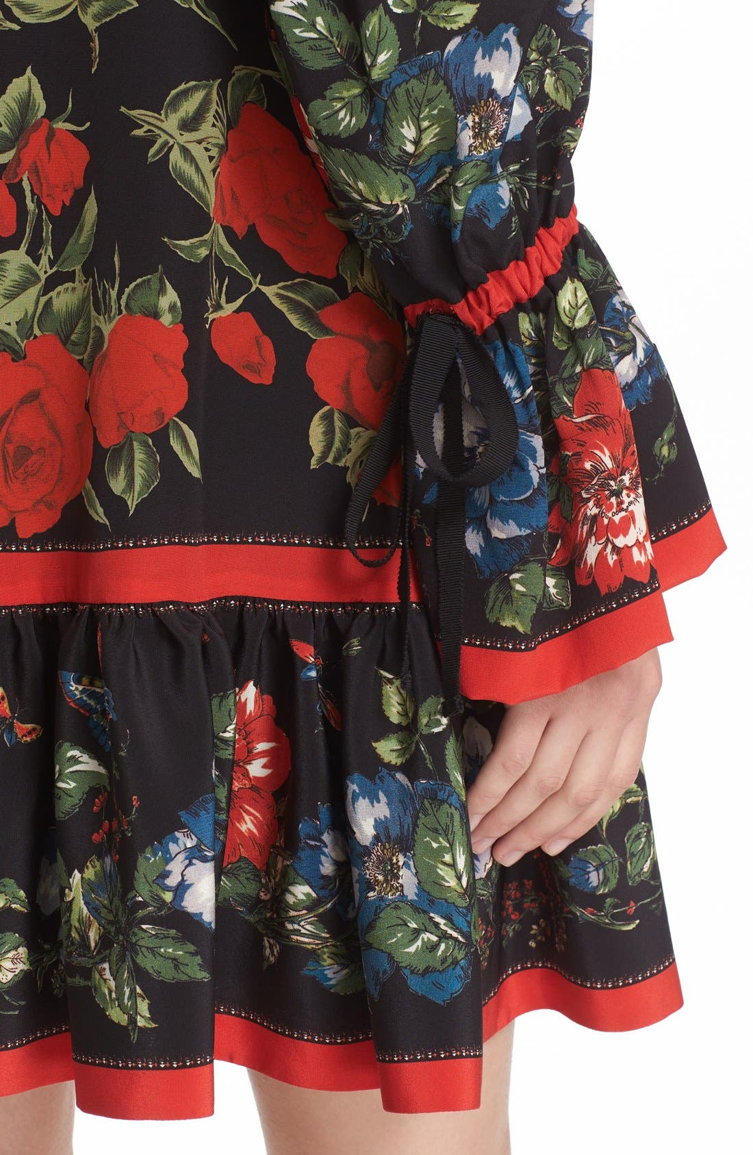 Alternate Image 6  - Alexander McQueen Floral Print Silk Dress