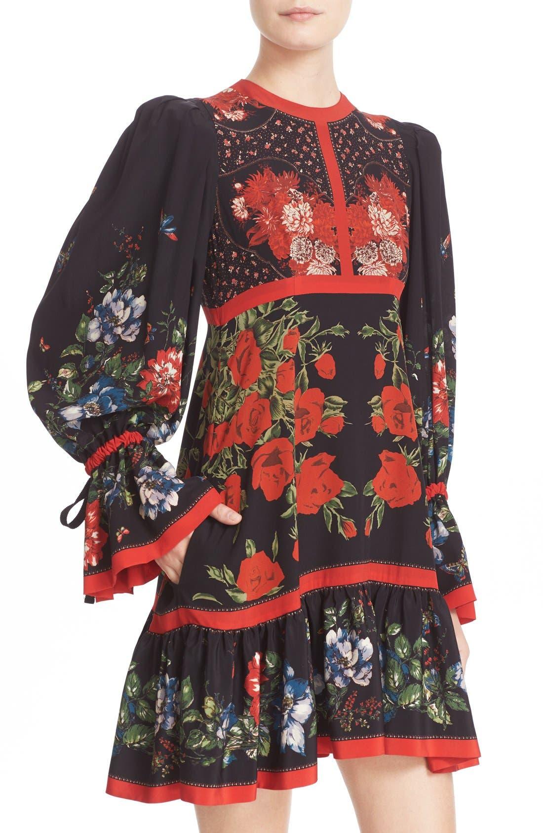 Alternate Image 5  - Alexander McQueen Floral Print Silk Dress