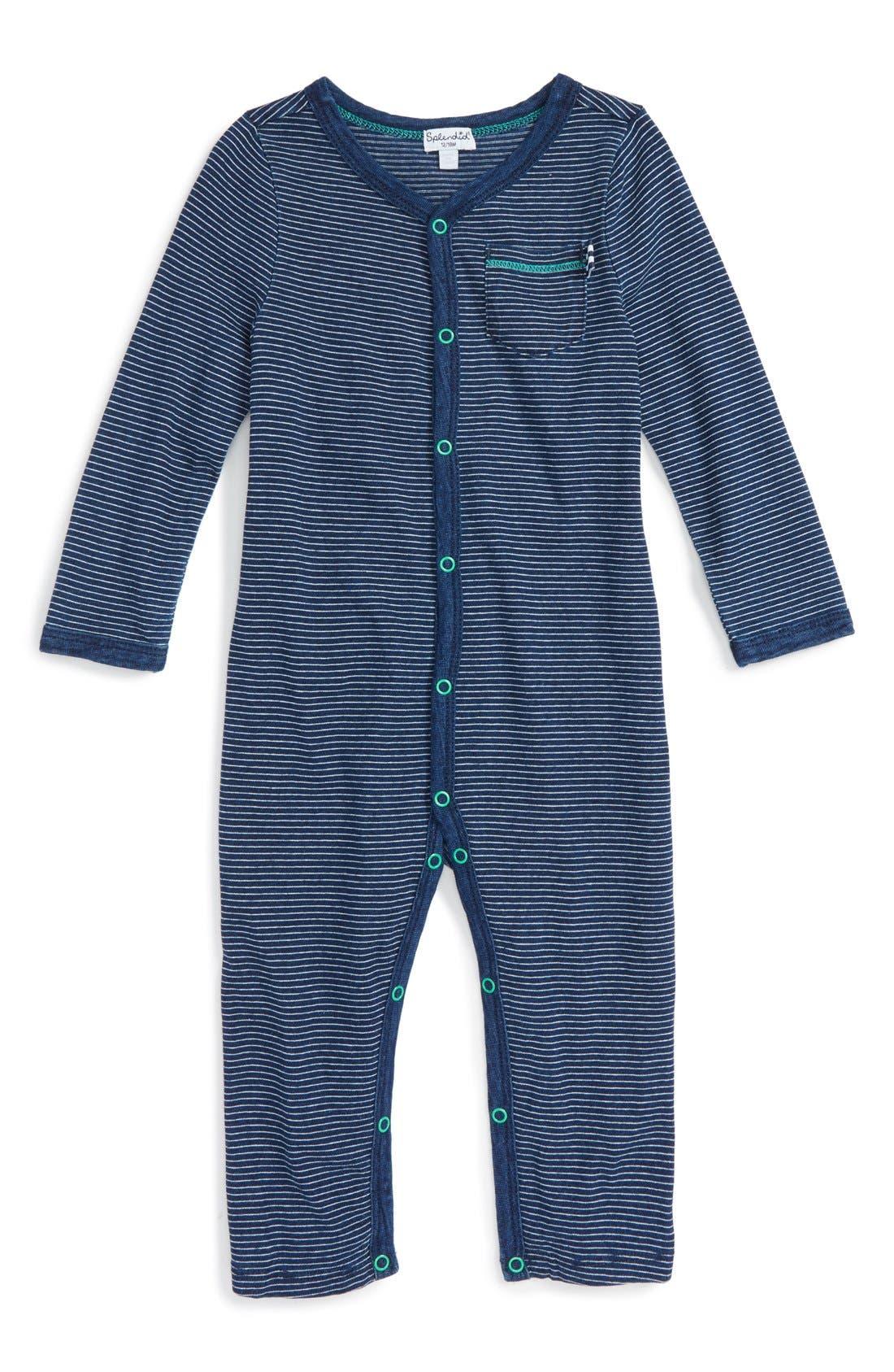 Splendid Stripe Cotton Romper (Baby Boys)