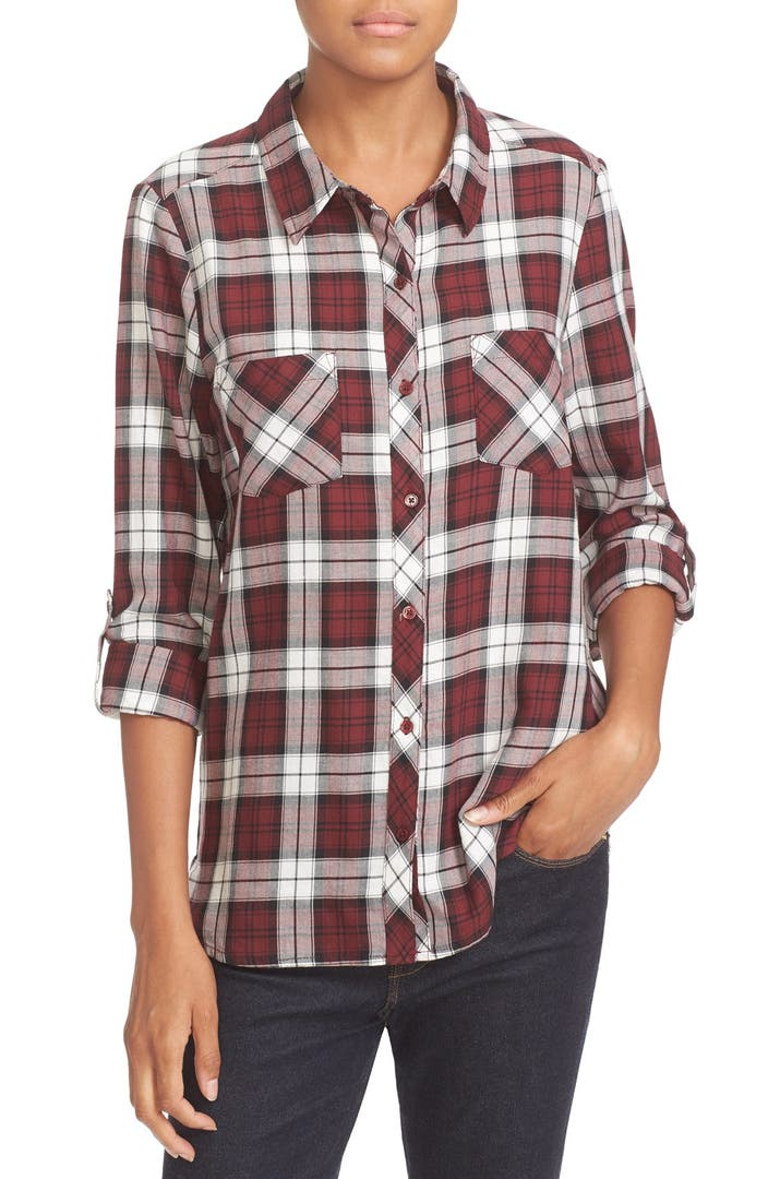 Soft joie 39 lilya 39 plaid cotton shirt nordstrom for Soft joie plaid shirt