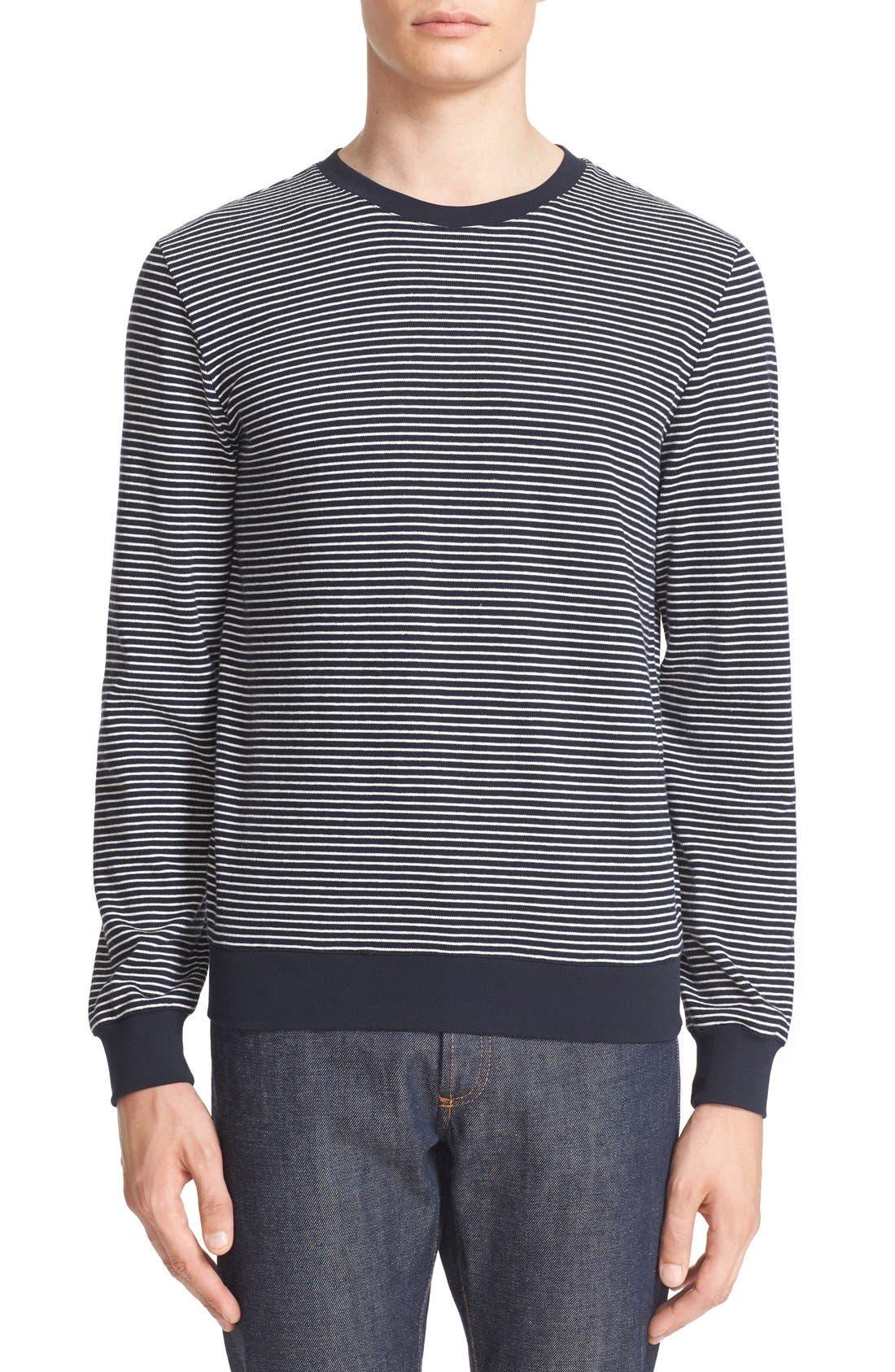 A.P.C. Jeremie Stripe Sweatshirt