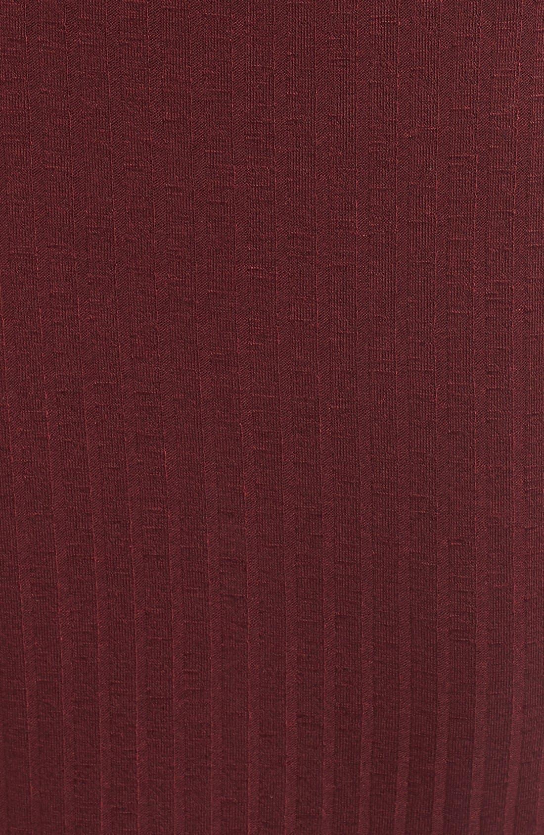 Alternate Image 5  - Love, Fire Lace-Up Rib Knit Dress