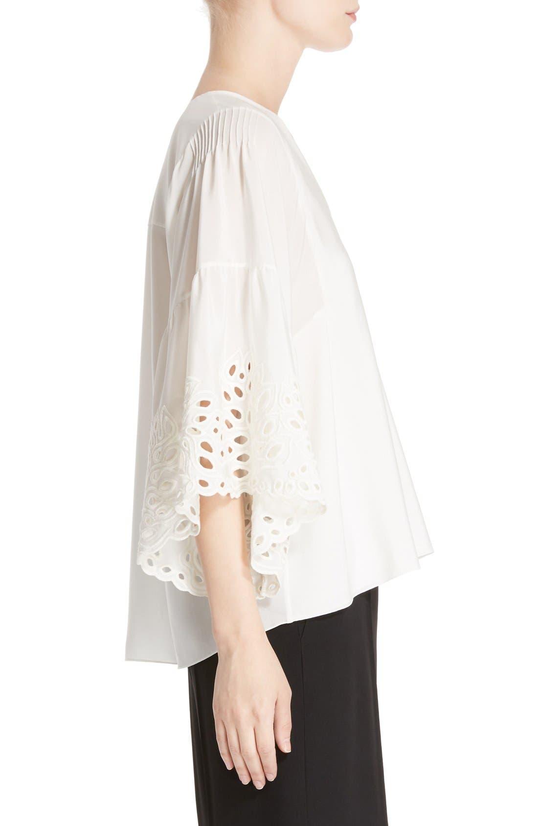 Alternate Image 4  - Chloé Palm Lace Silk Blouse