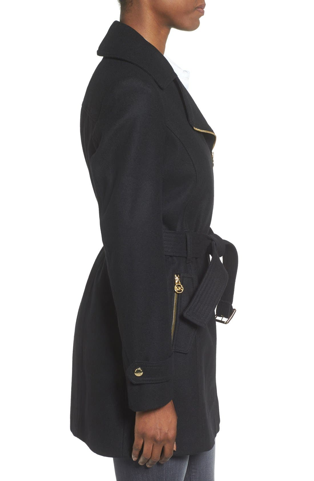 Alternate Image 3  - MICHAEL Michael Kors Belted Asymmetrical Wool Blend Coat