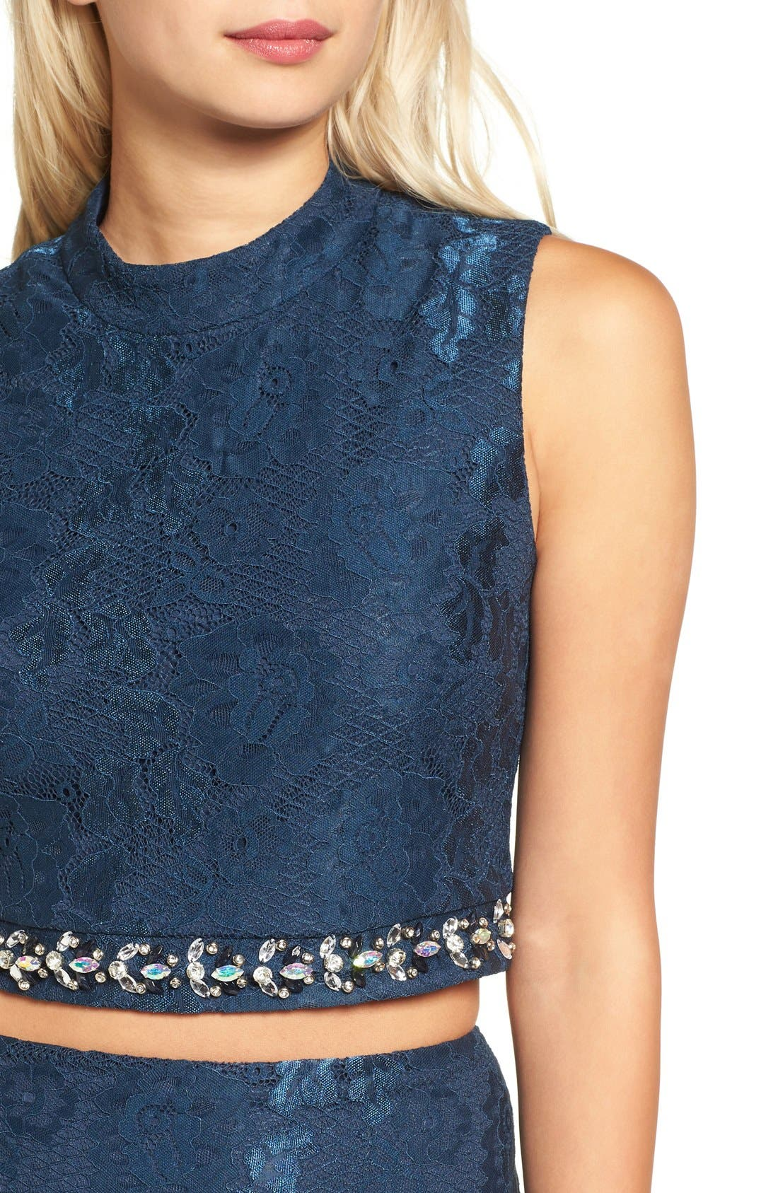 Alternate Image 4  - Way-In Lace Two-Piece Dress