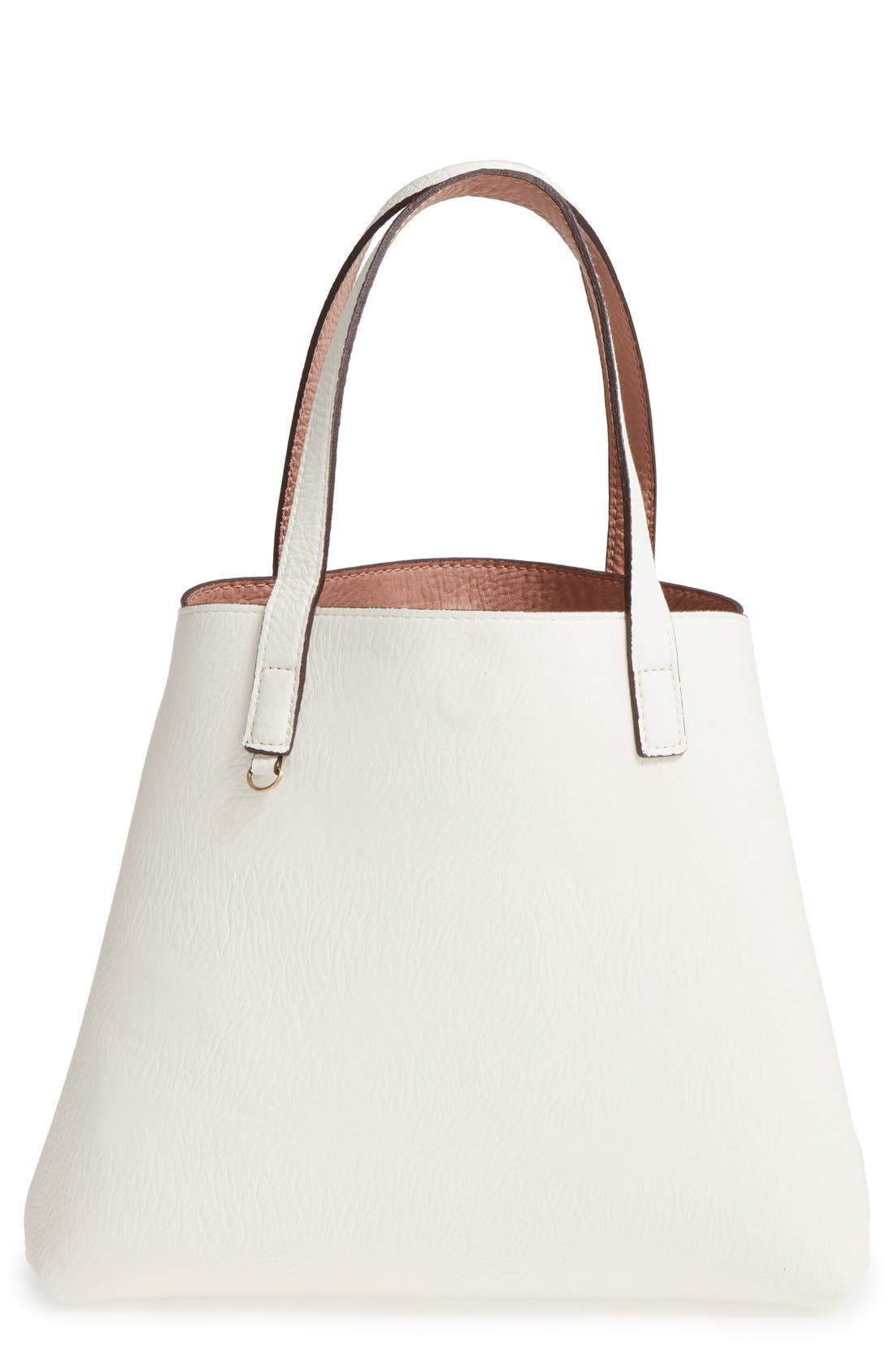Alternate Image 6  - Street Level Reversible Faux Leather Tote