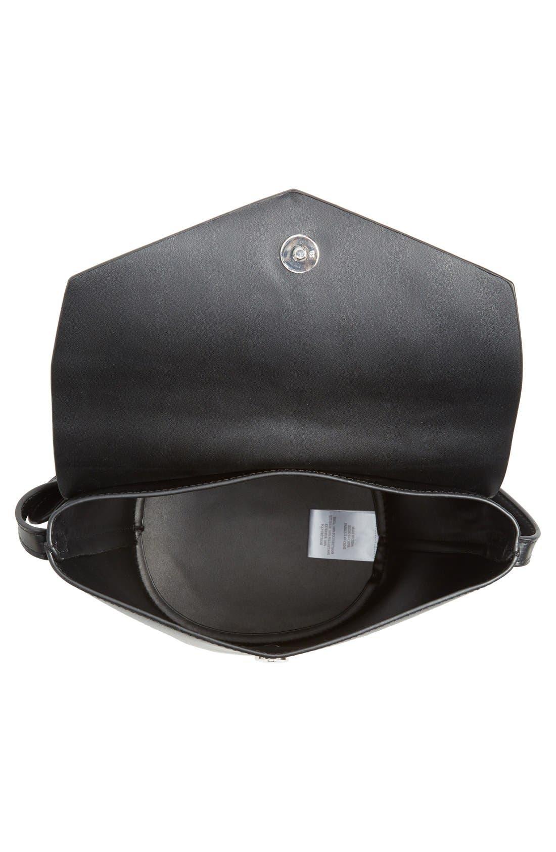 Alternate Image 4  - Street Level Faux Leather Envelope Bucket Bag