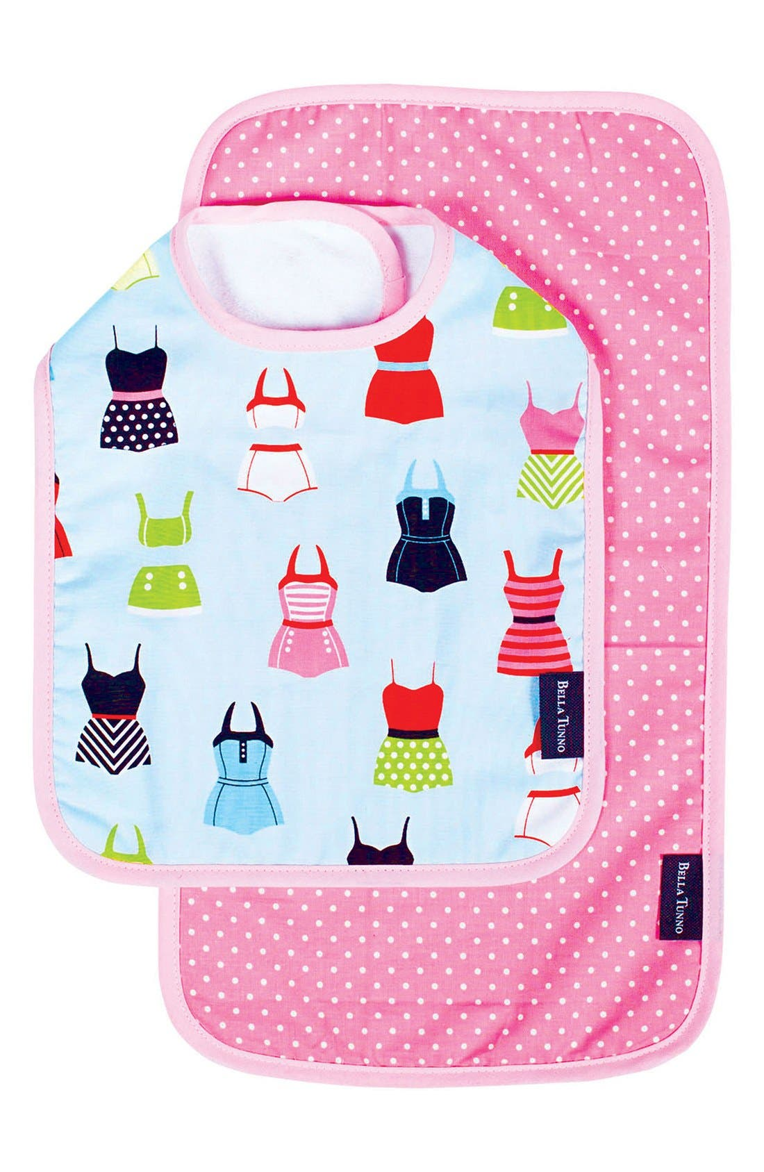 BELLA TUNNO Bib & Burpie Cloth Set