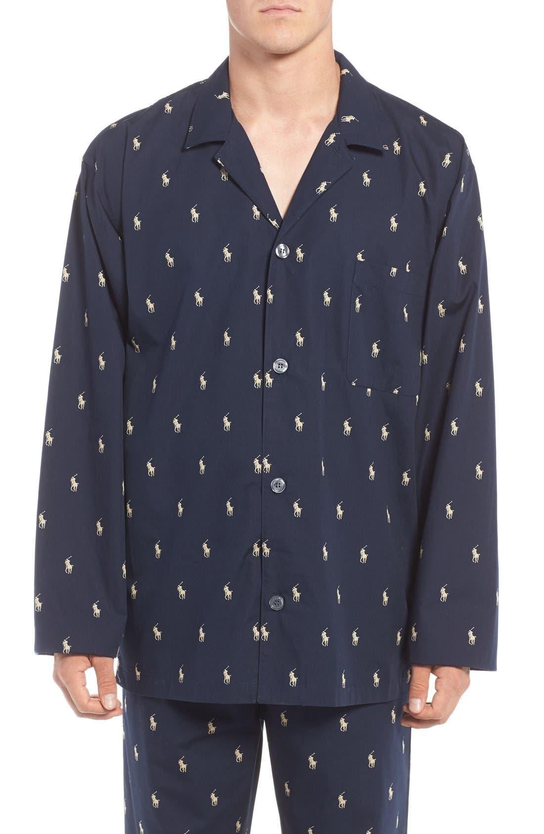 Polo Ralph Lauren 'Polo Player' Embroidered Pajama Top