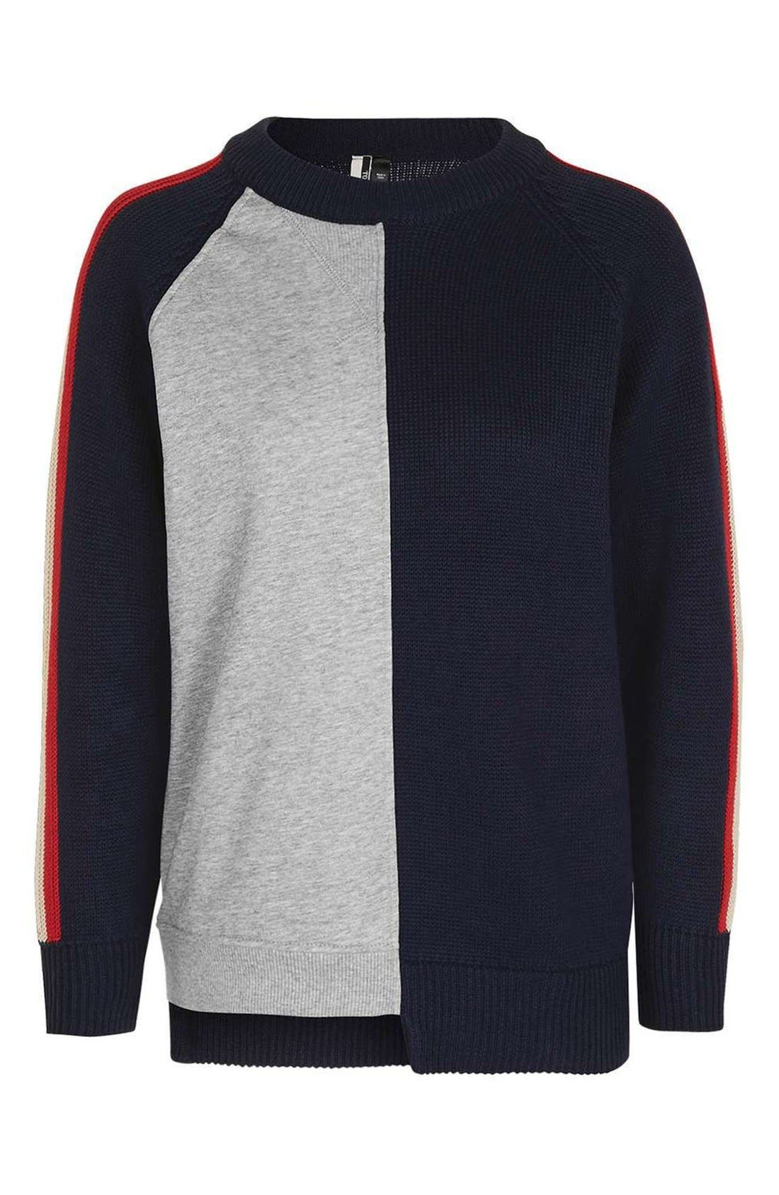 Alternate Image 4  - Topshop Cutabout Colorblock Sweater