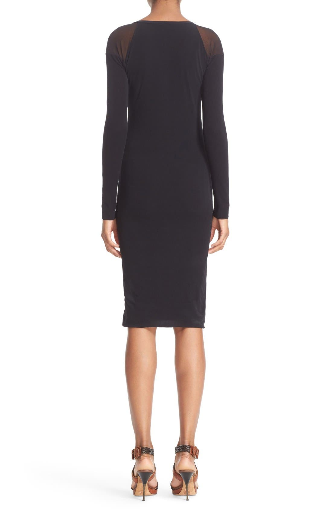 Alternate Image 2  - Fuzzi Illusion Cold Shoulder Sheath Dress
