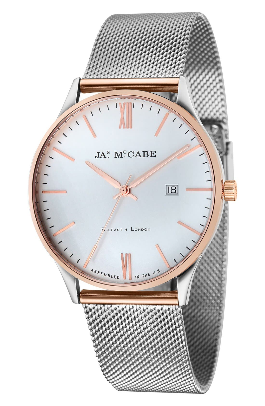 JAMES MCCABE London Mesh Strap Watch, 43mm