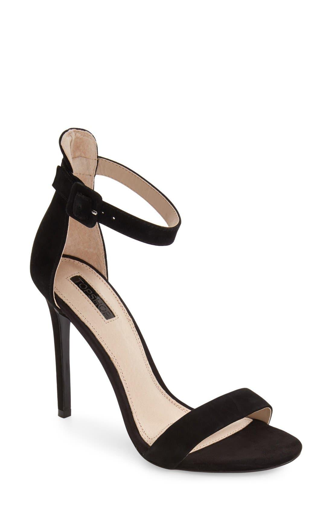 Alternate Image 1 Selected - Topshop 'Rita' Ankle Strap Sandal (Women)